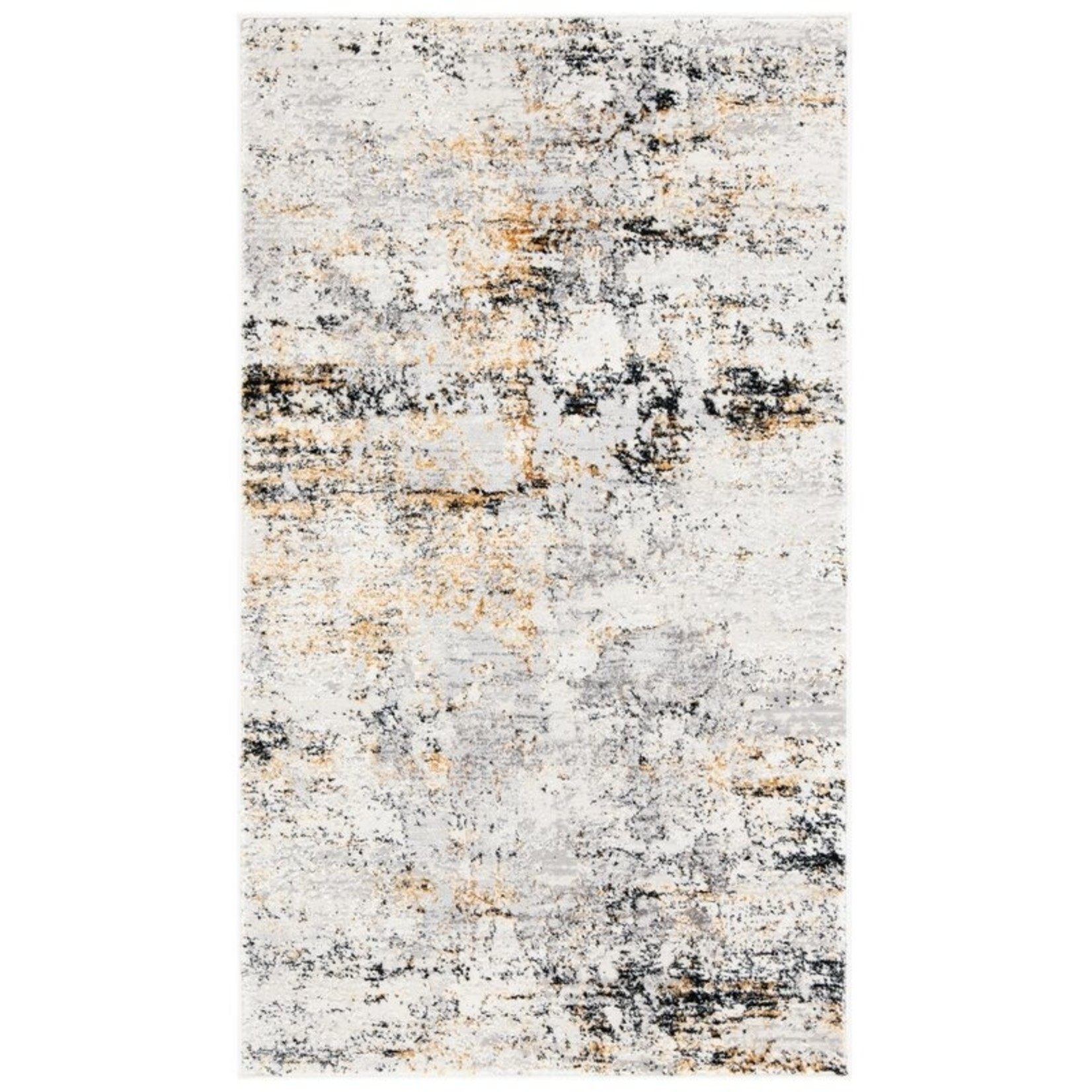 *3' x 5' - Kojo Abstract Cream/Gold Area Rug