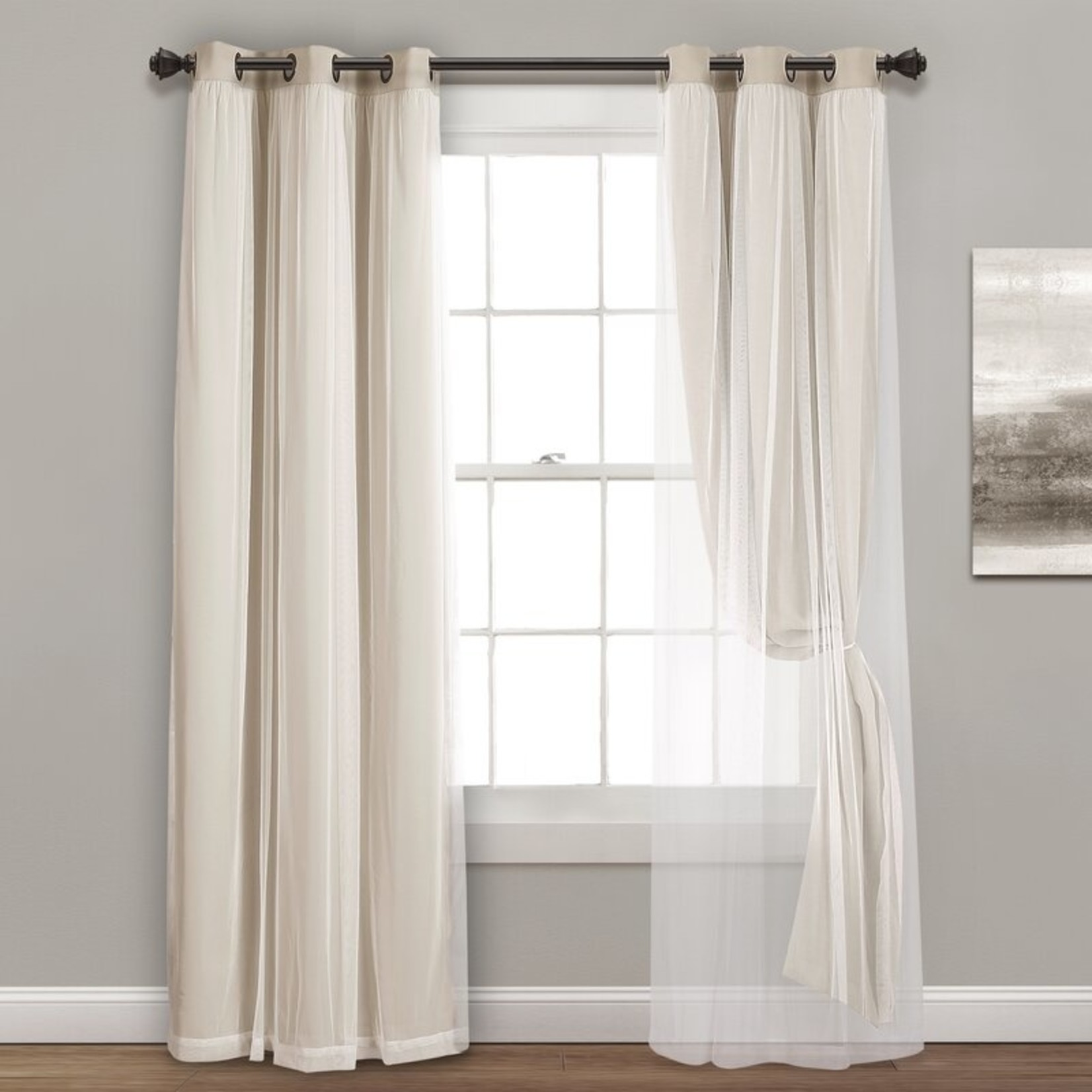 """*38"""" x 95"""" - Busselton Solid Blackout Thermal Grommet Curtain Panels - Set of 2"""