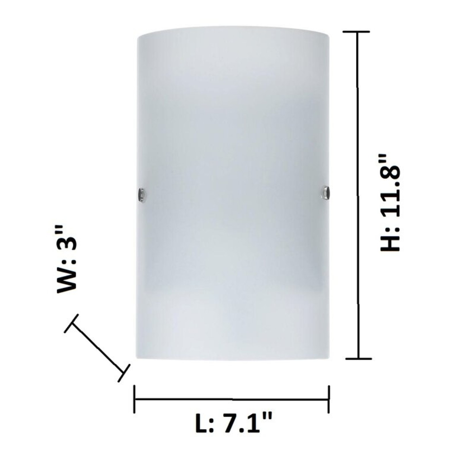 *Alizza 1-Light Dimmable Matte Nickel Wall Sconce