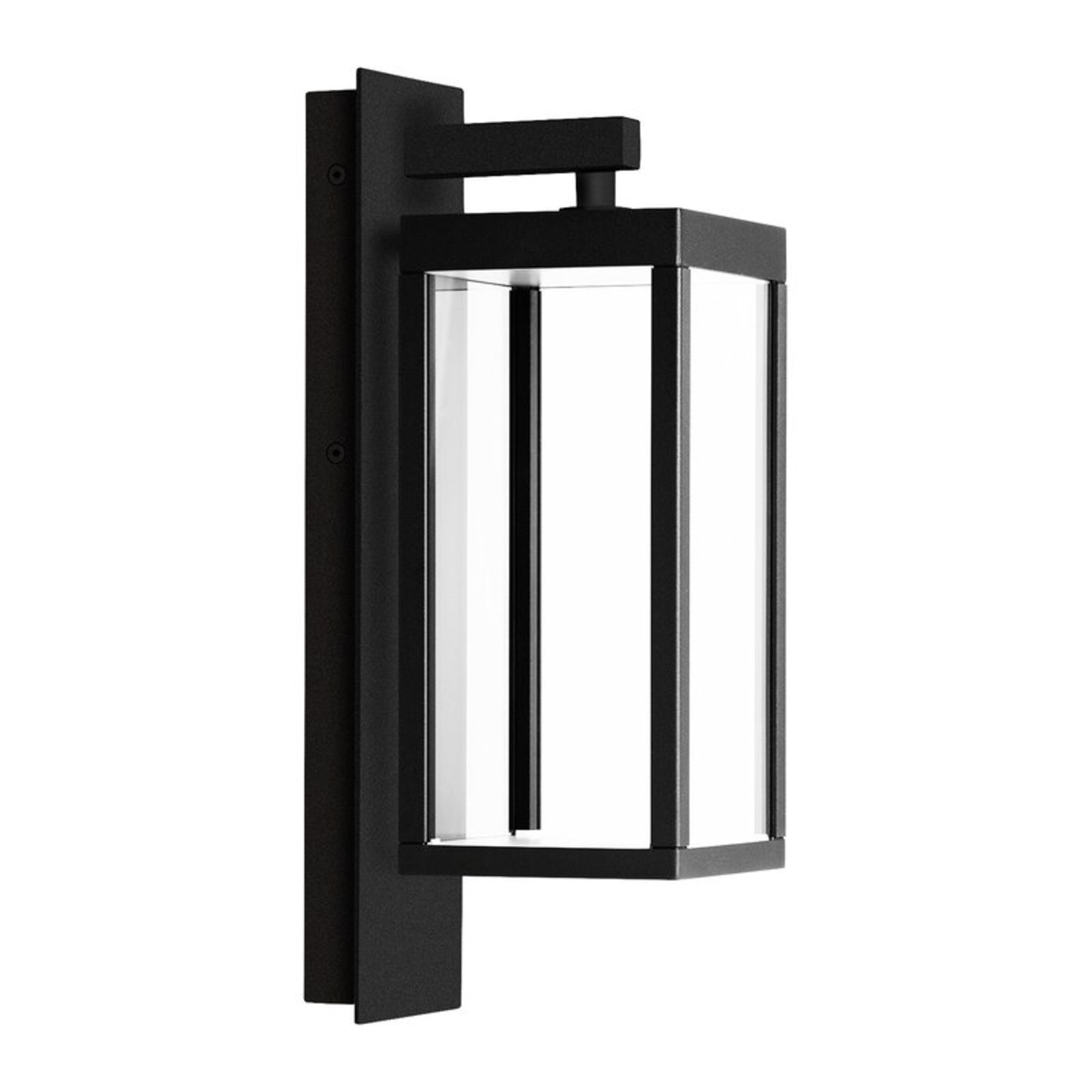 """*Elah Black 15.8"""" H Integrated LED Outdoor Armed Sconce"""