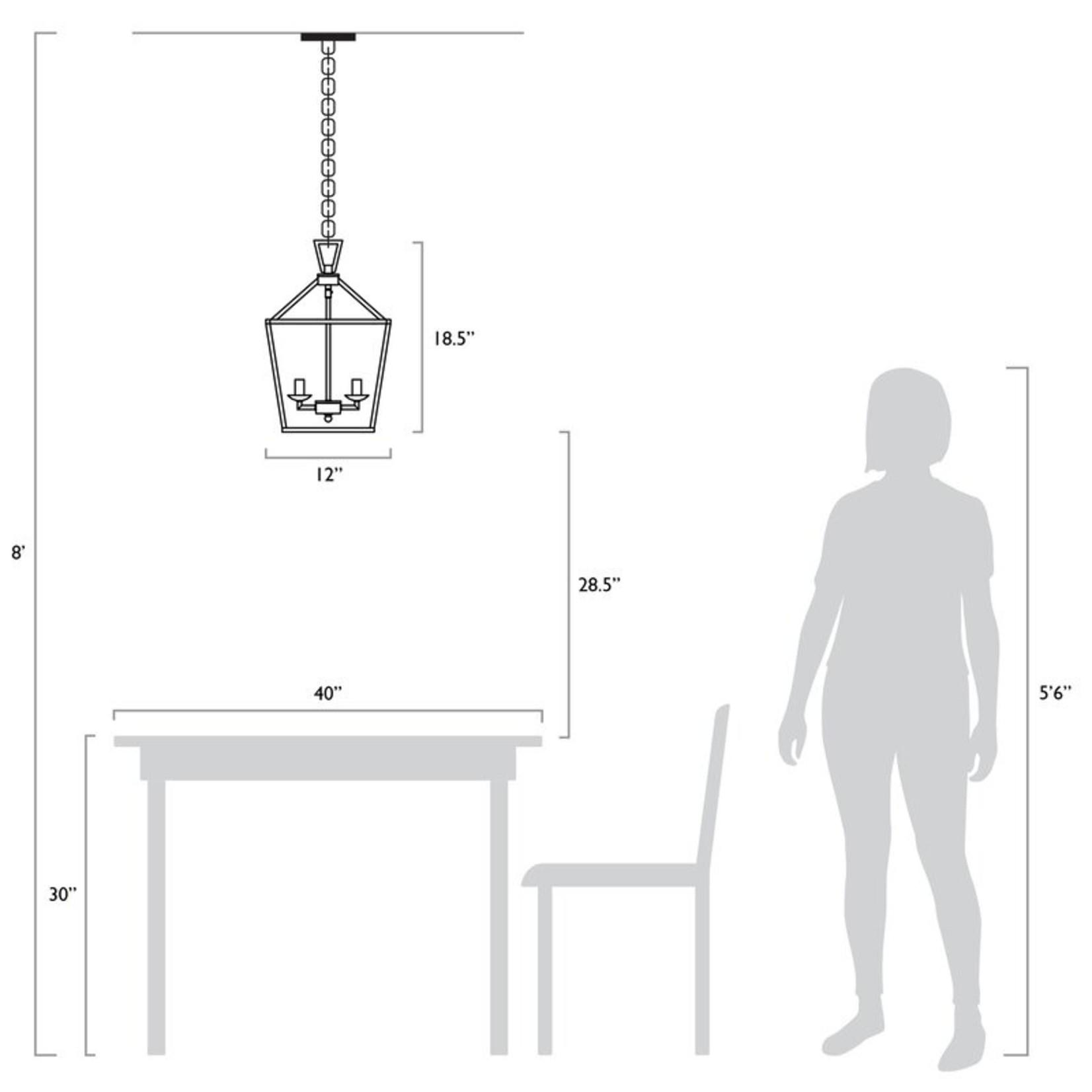 *Carmen 4 - Light Lantern Geometric Pendant - Polished Chrome