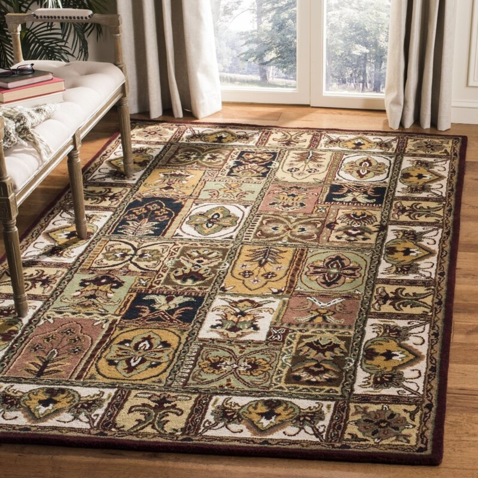 *3' x 5' Chattooga Hand-Tufted Wool Brown/Yellow Area Rug