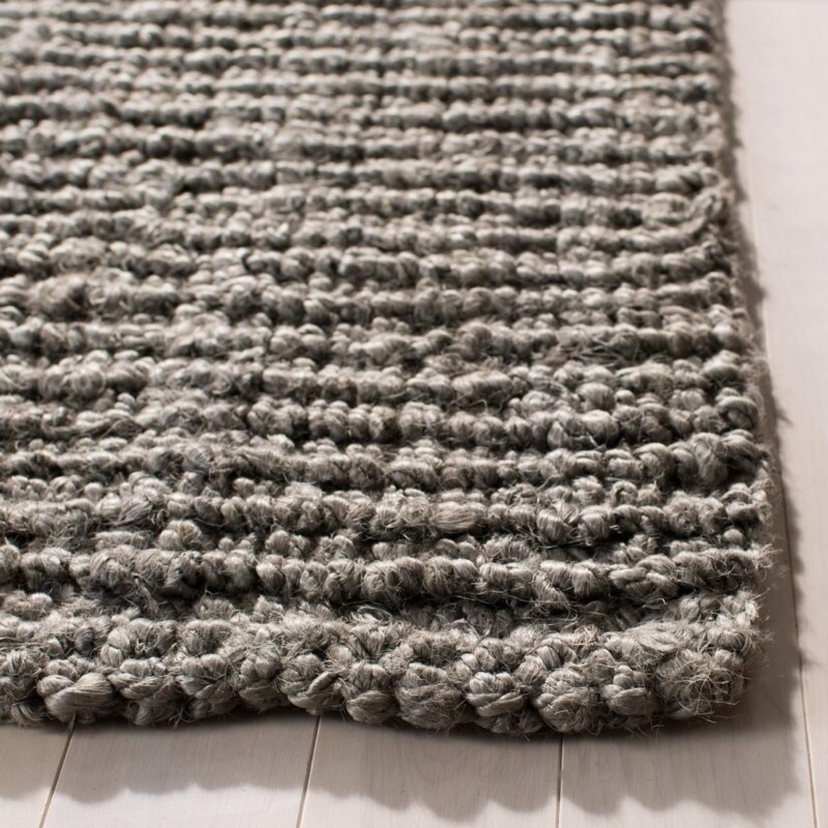 *4' x 4' Square - Jeremy Handwoven Jute Light Gray Area Rug