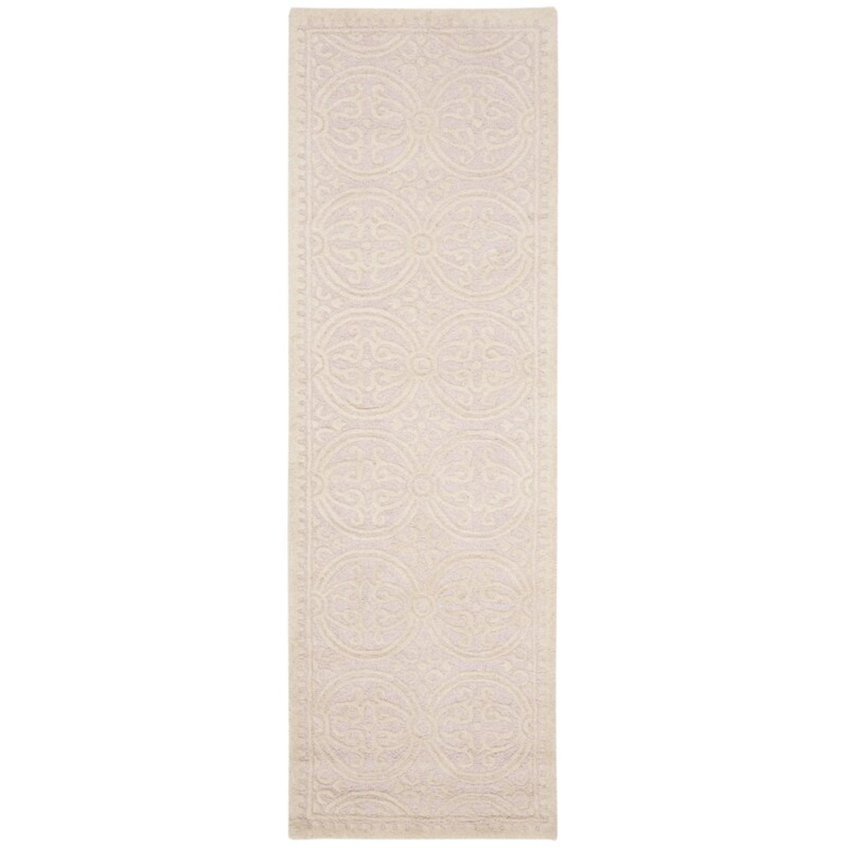 "*2'6"" x 6' - Brunswick Geometric Handmade Wool Light Pink/Ivory Runner"