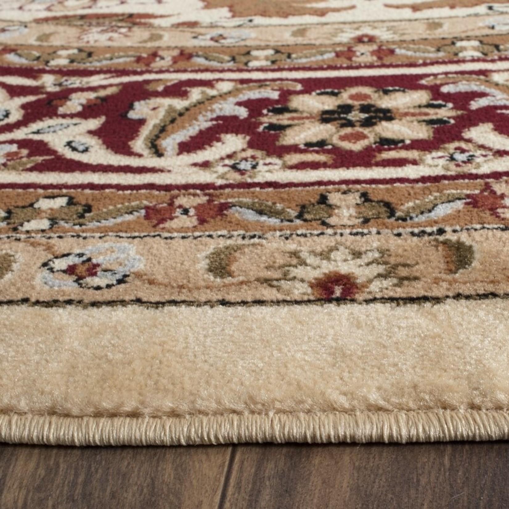 "*3'3"" Round - Leona Oriental Ivory/Red Area Rug"