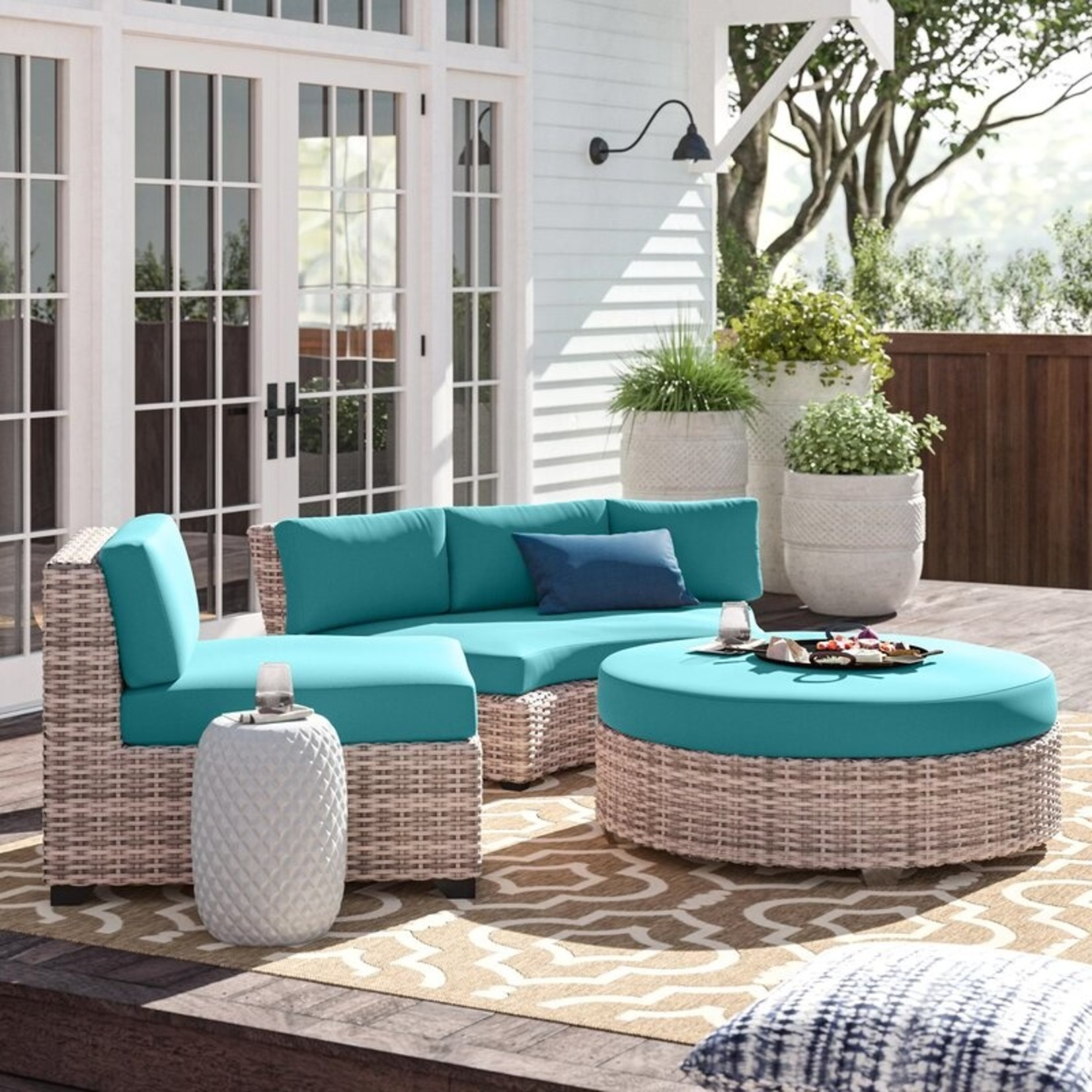 *Merlyn Indoor/Outdoor Cushion Cover - Aruba - Covers Only - Final Sale