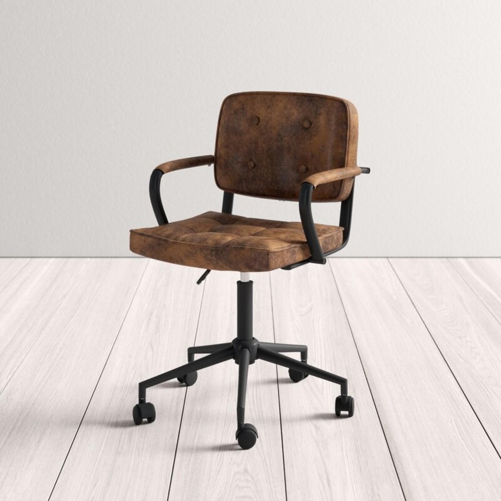 *Gianluca Suede Task Chair - Brown