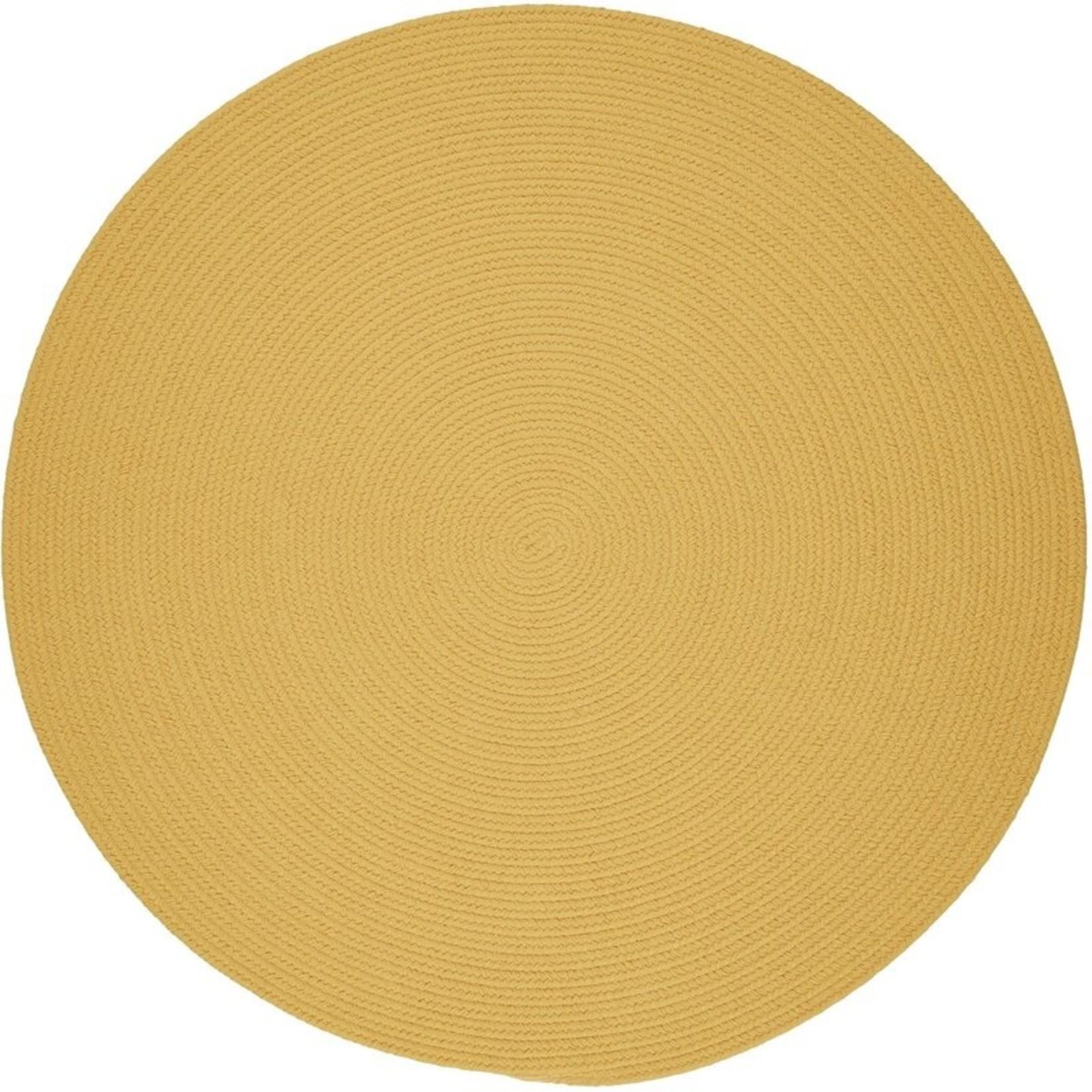 *8' Round - Smyth Hand-Braided-Yellow Indoor/Outdoor Area Rug