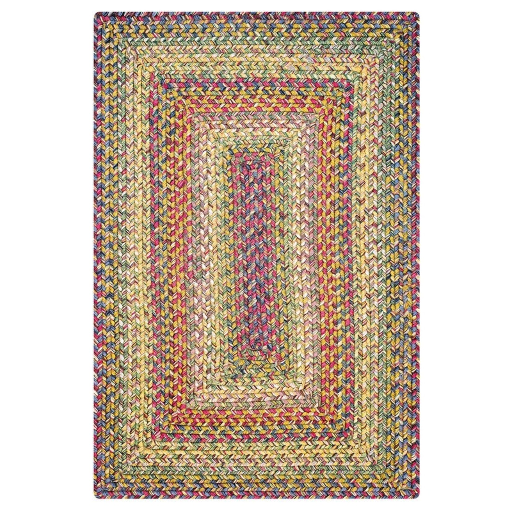 *5' x 8' - Kennemer Ultra-Durable Green/Orange Area Rug