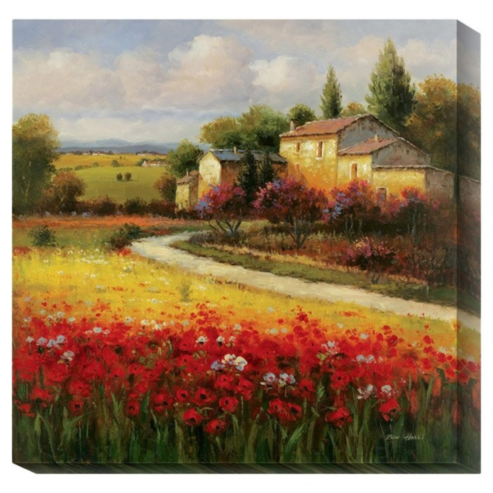 """*'Tuscan Summer' Painting Print on Canvas - 36"""" x 36"""""""
