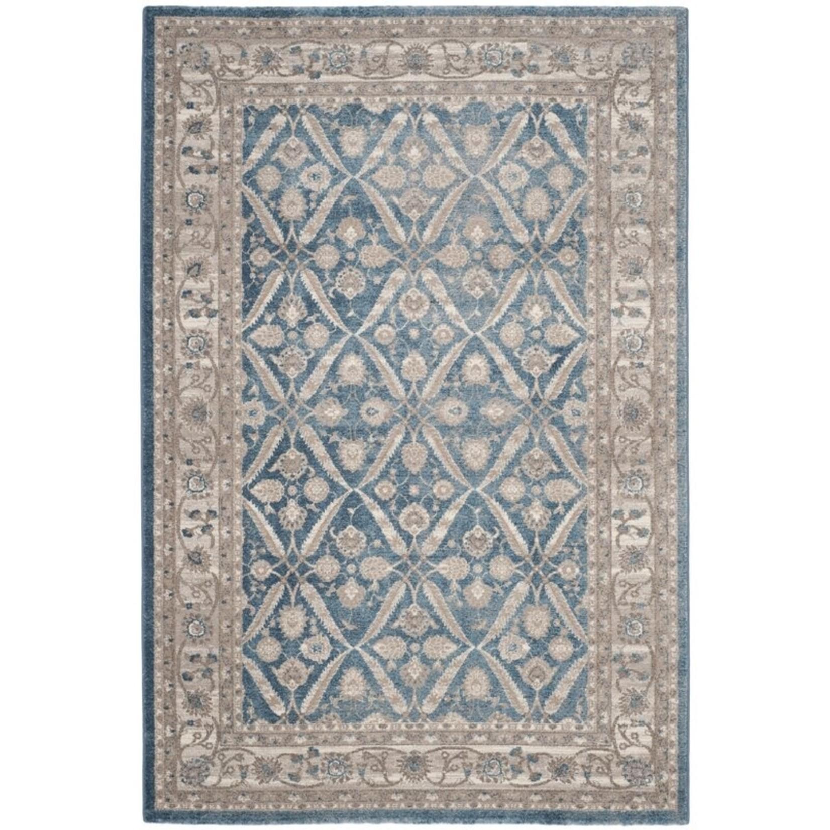 *8' x 10' - Statham Oriental Blue/Beige Area Rug