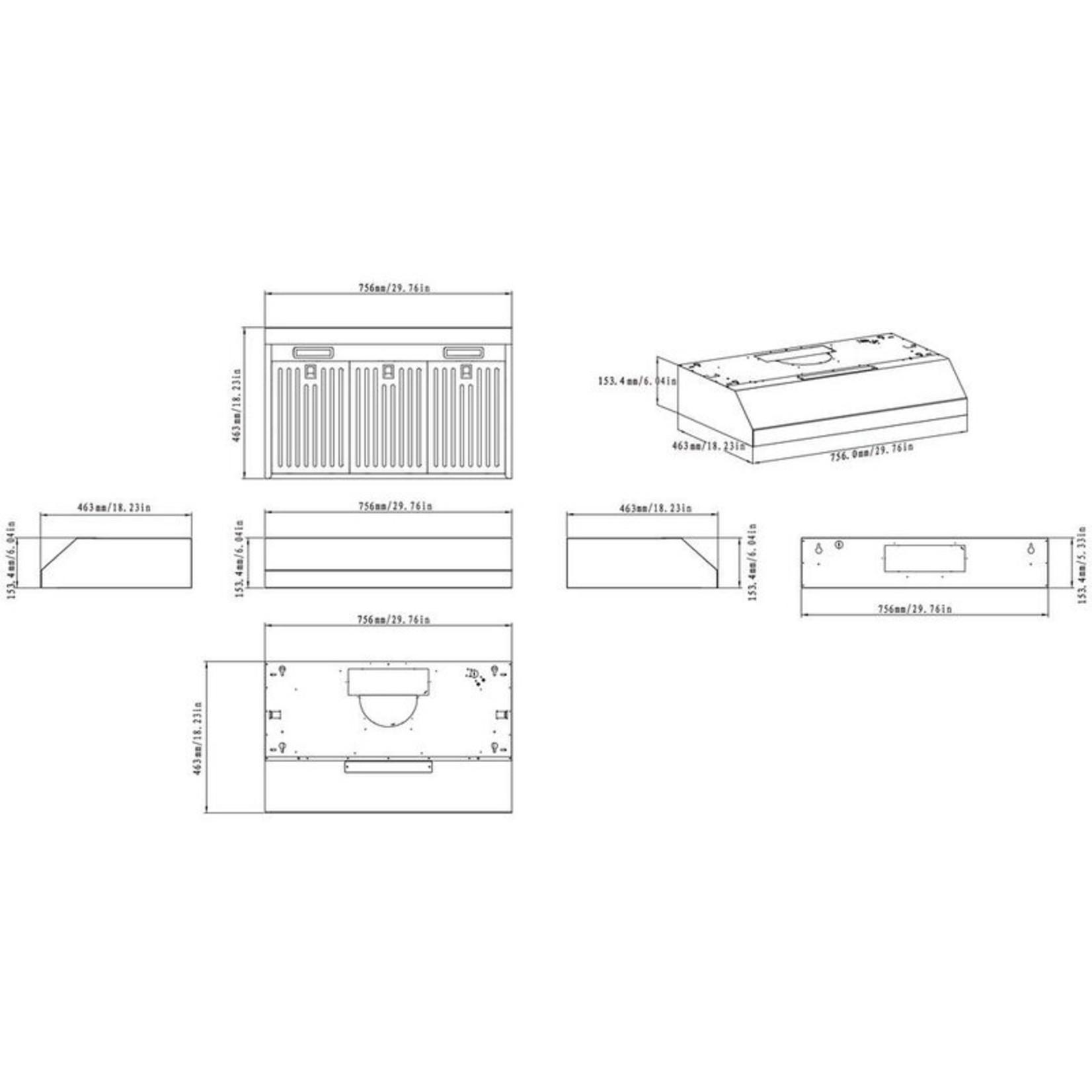 "*30"" 111 Series 500 CFM Convertible Under Cabinet Range Hood in Stainless Steel"