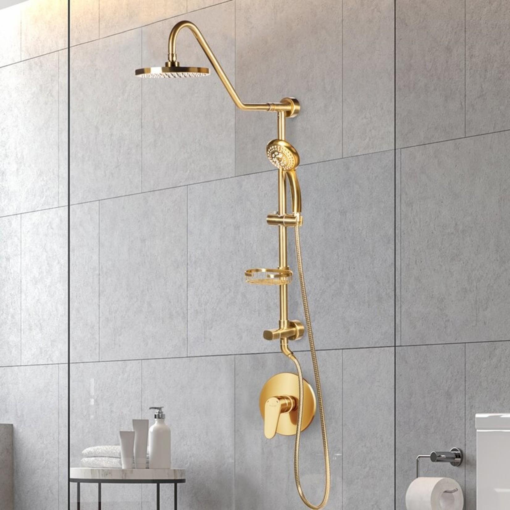 *Kauai Rain Complete Shower System - Brushed Gold