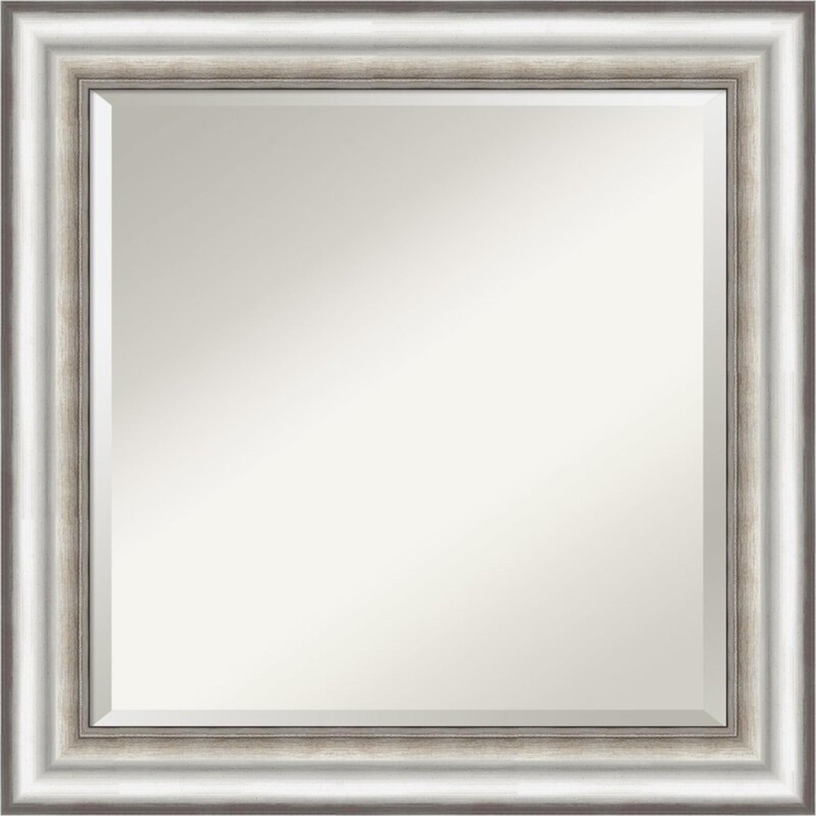 "*Trumpeters Traditional Beveled Bathroom/Vanity Wall Mirror - 25"" x 25"""