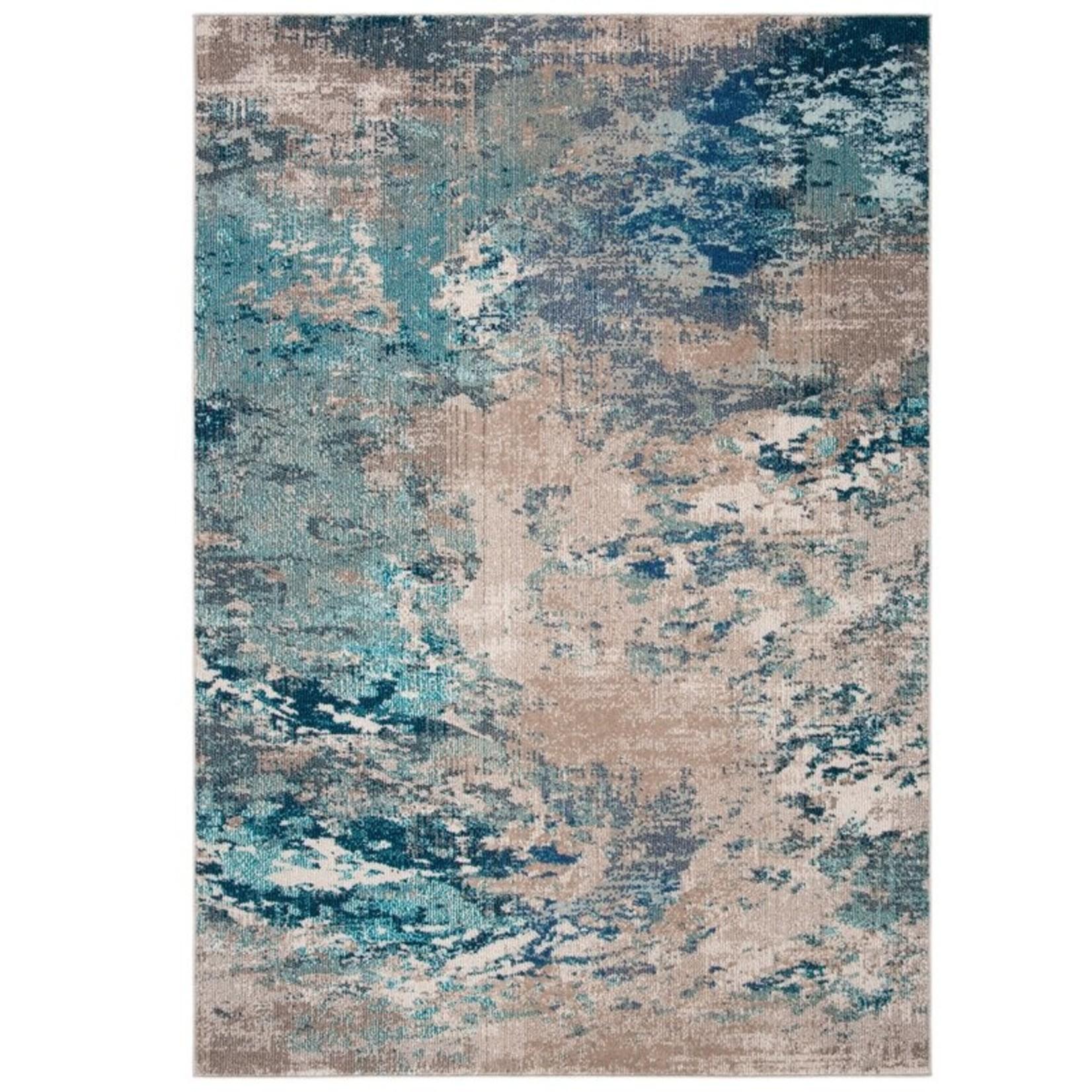 *12' x 18' - Abderus Abstract Blue/Gray Area Rug