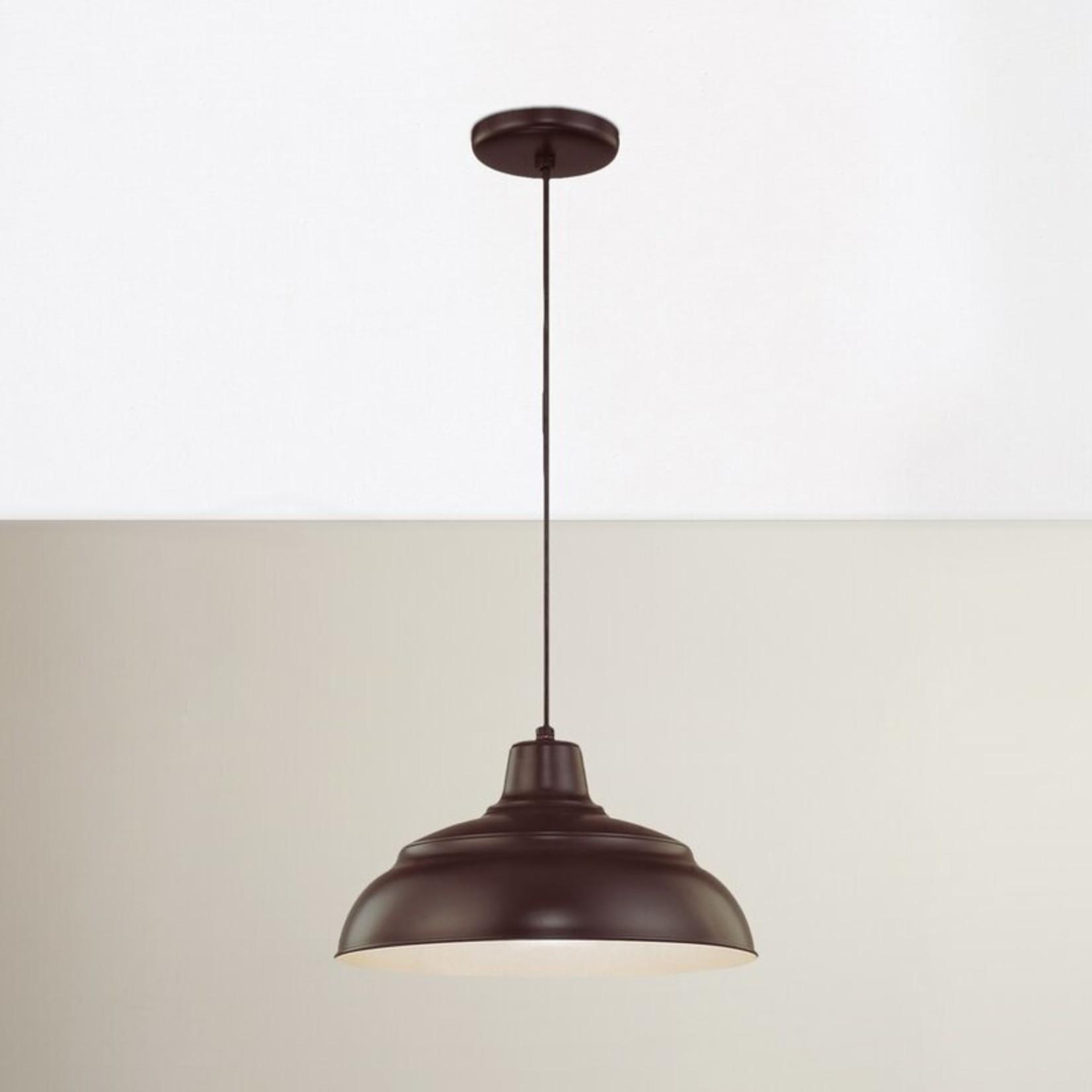 *Decastro 1 - Light Single Dome Pendant - Architectural Bronze