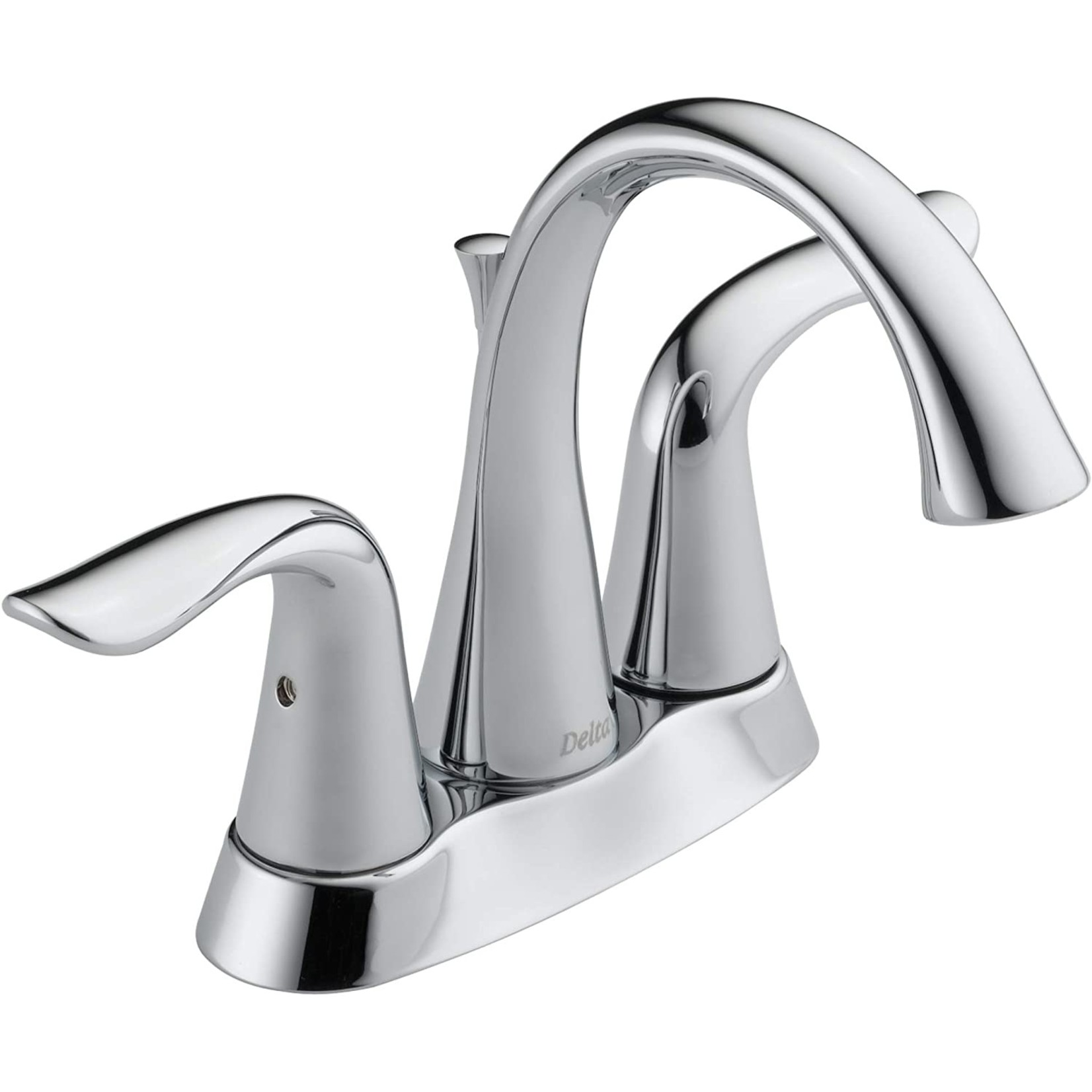 *Lahara Centerset Bathroom Faucet with Drain Assembly and Diamond Seal Technology - Stainless Steel