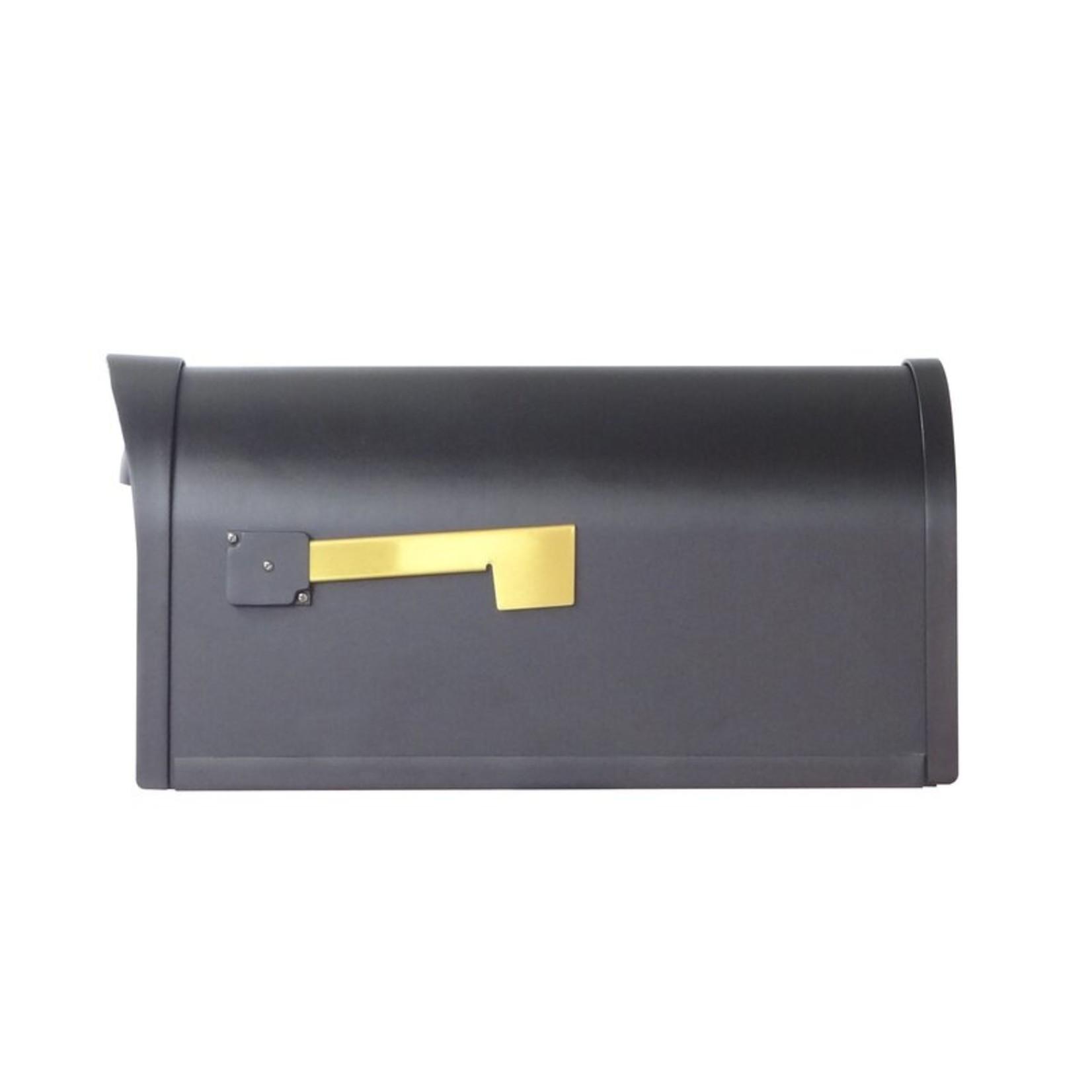 *Baldwin Post Mounted Mailbox - Black
