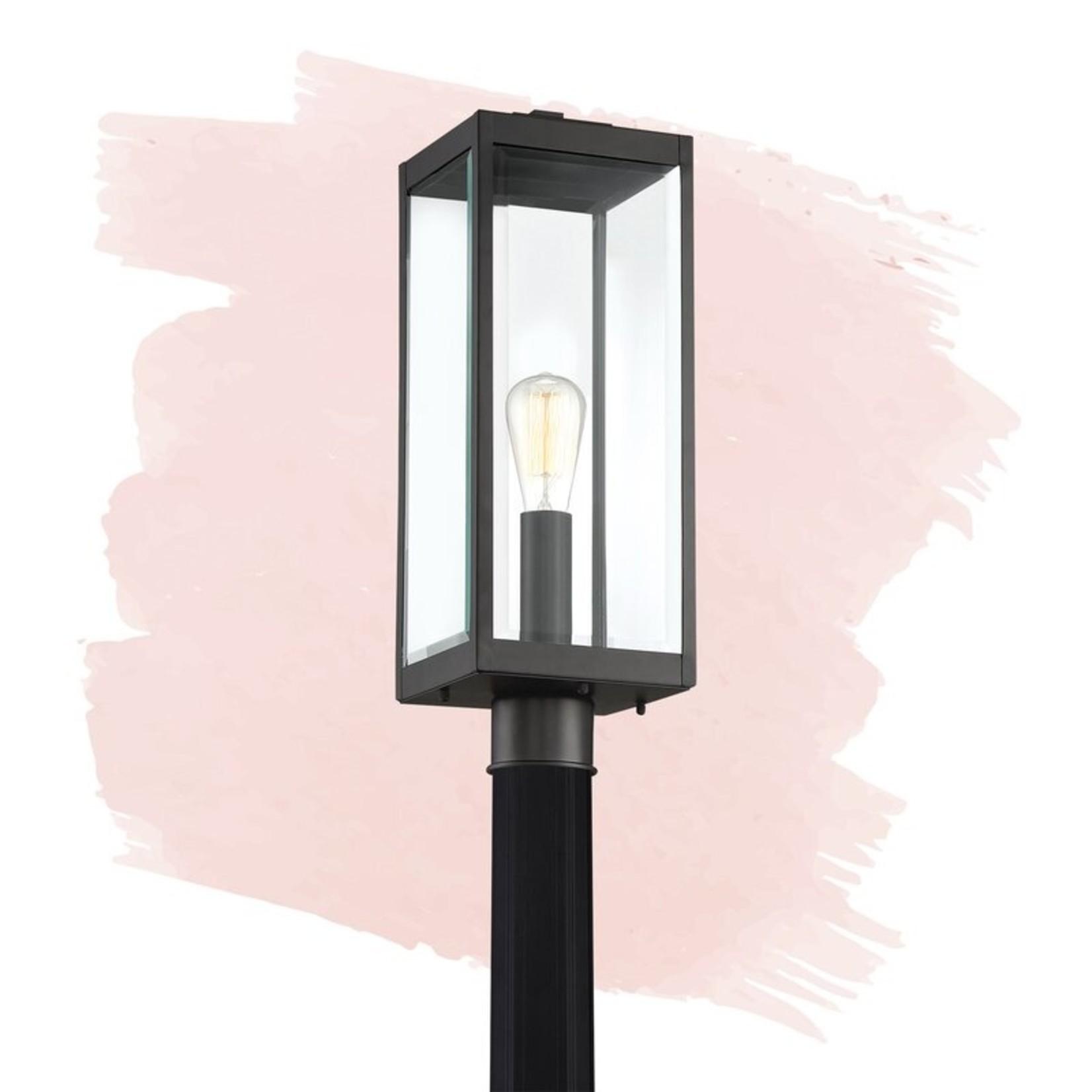 "*Kaylie Earth Black 1 -Light 20.5"" H Hardwired Lantern Head"