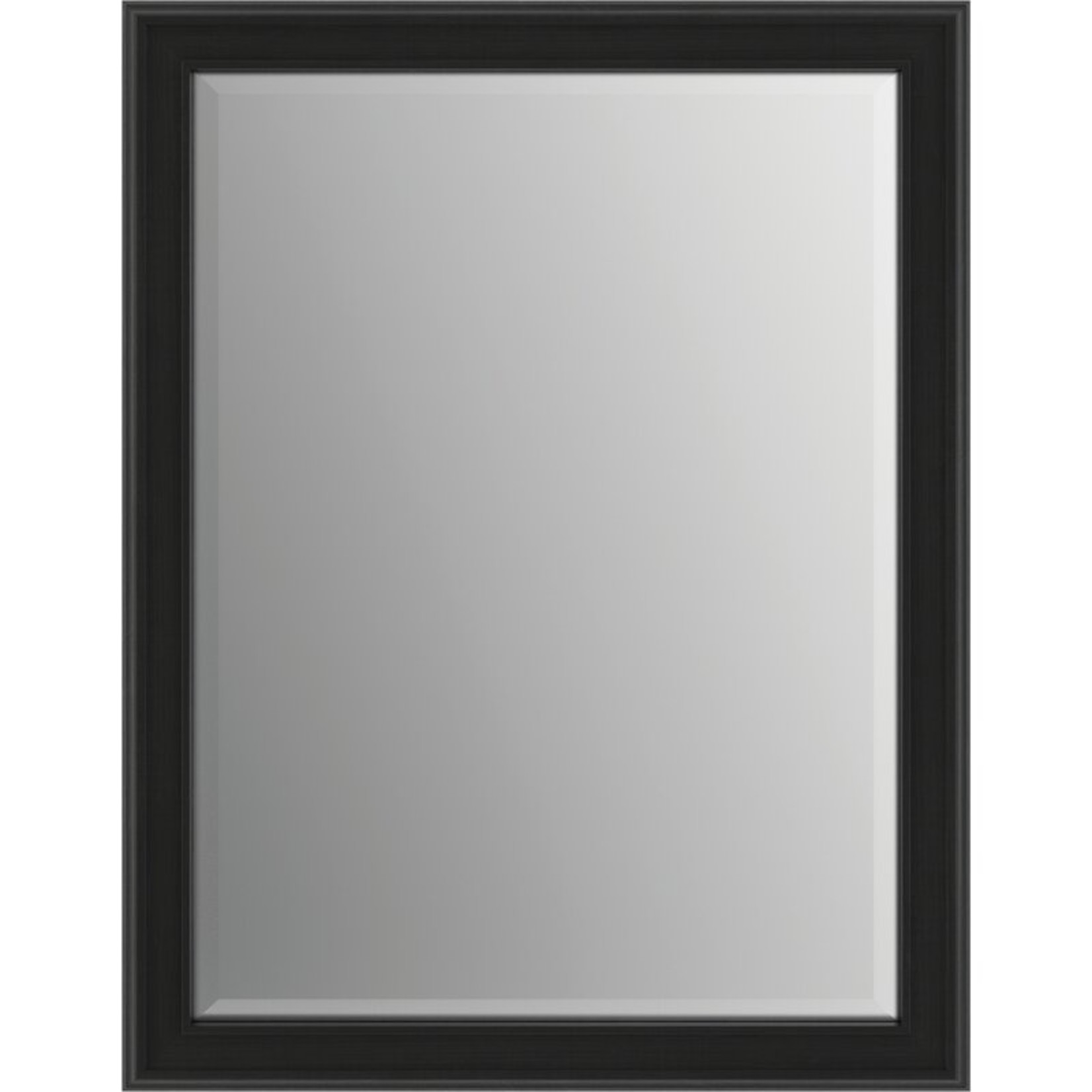 "*24"" x 31"" - Deluxe Modern Beveled Bathroom/Vanity Mirror with Matte Black Frame"