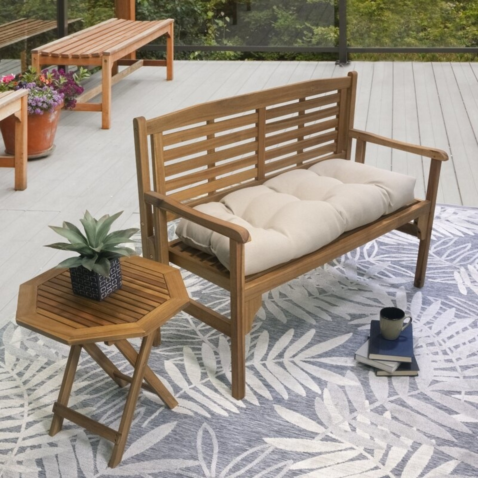 *Sarver Indoor/Outdoor Seat Cushion - Tan
