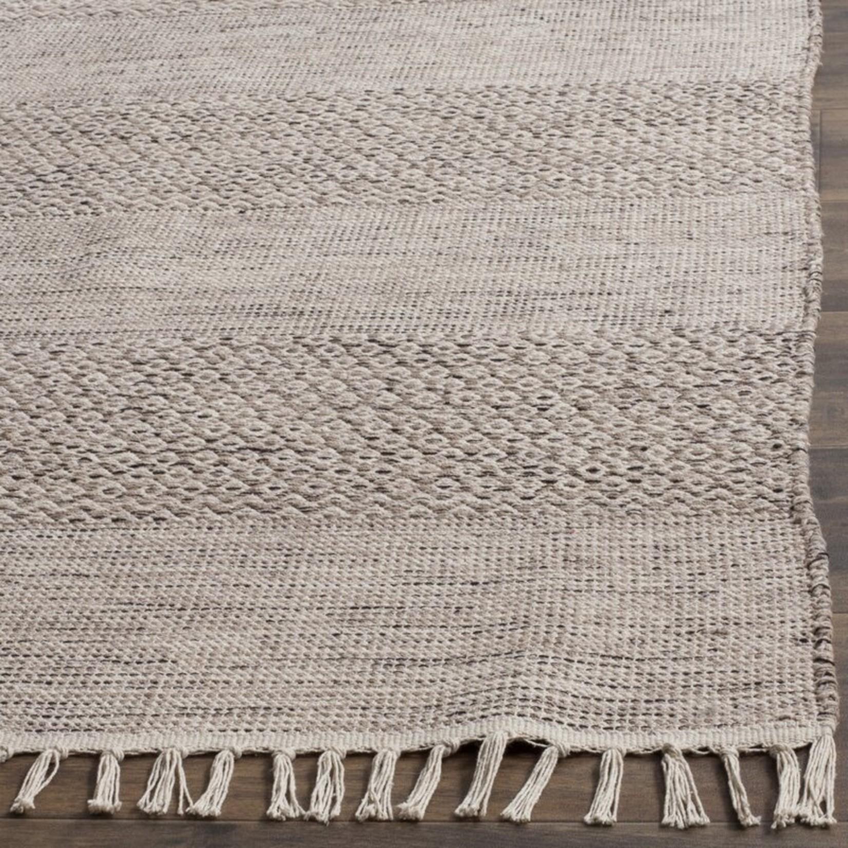 "*2'3"" x 10' - Jodi Geometric Handmade Flatweave Cotton Ivory/Black Area Rug"