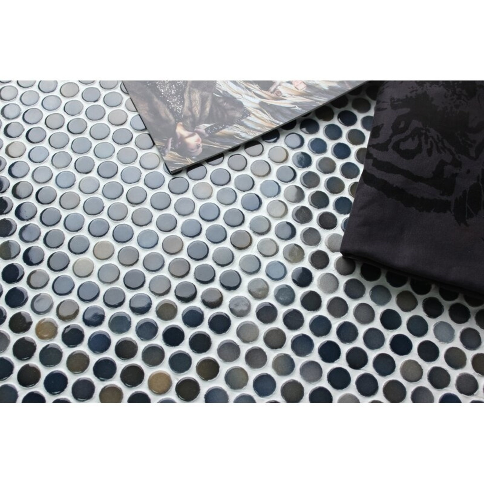 "*Value Series 0.8"" x 0.8"" Porcelain Penny Round Mosaic Wall & Floor Tile - 11 Tile Set (10.1 Sq. Ft.)"