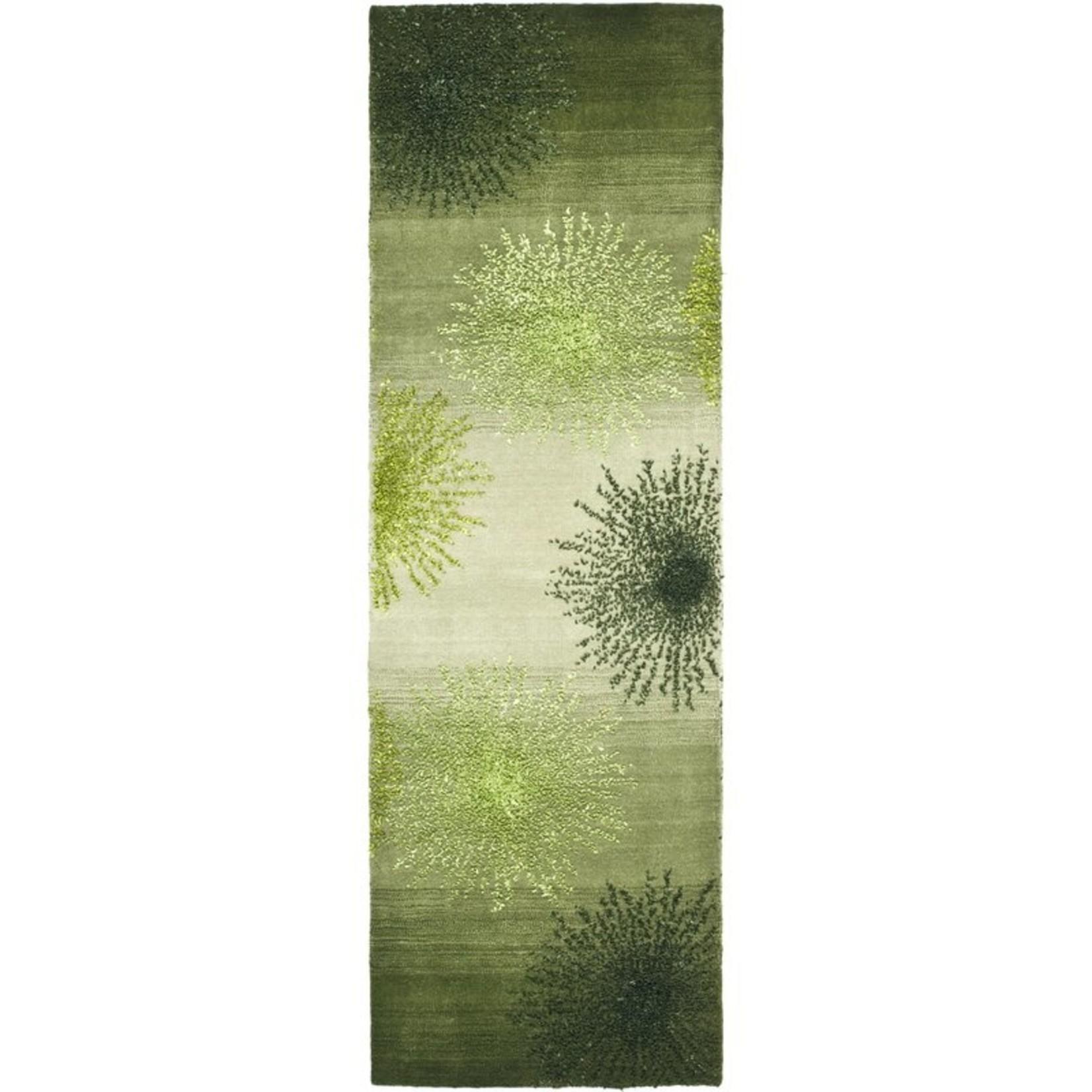 "*2'6"" x 10' - Soho Hand-Tufted Wool Green Area Rug"