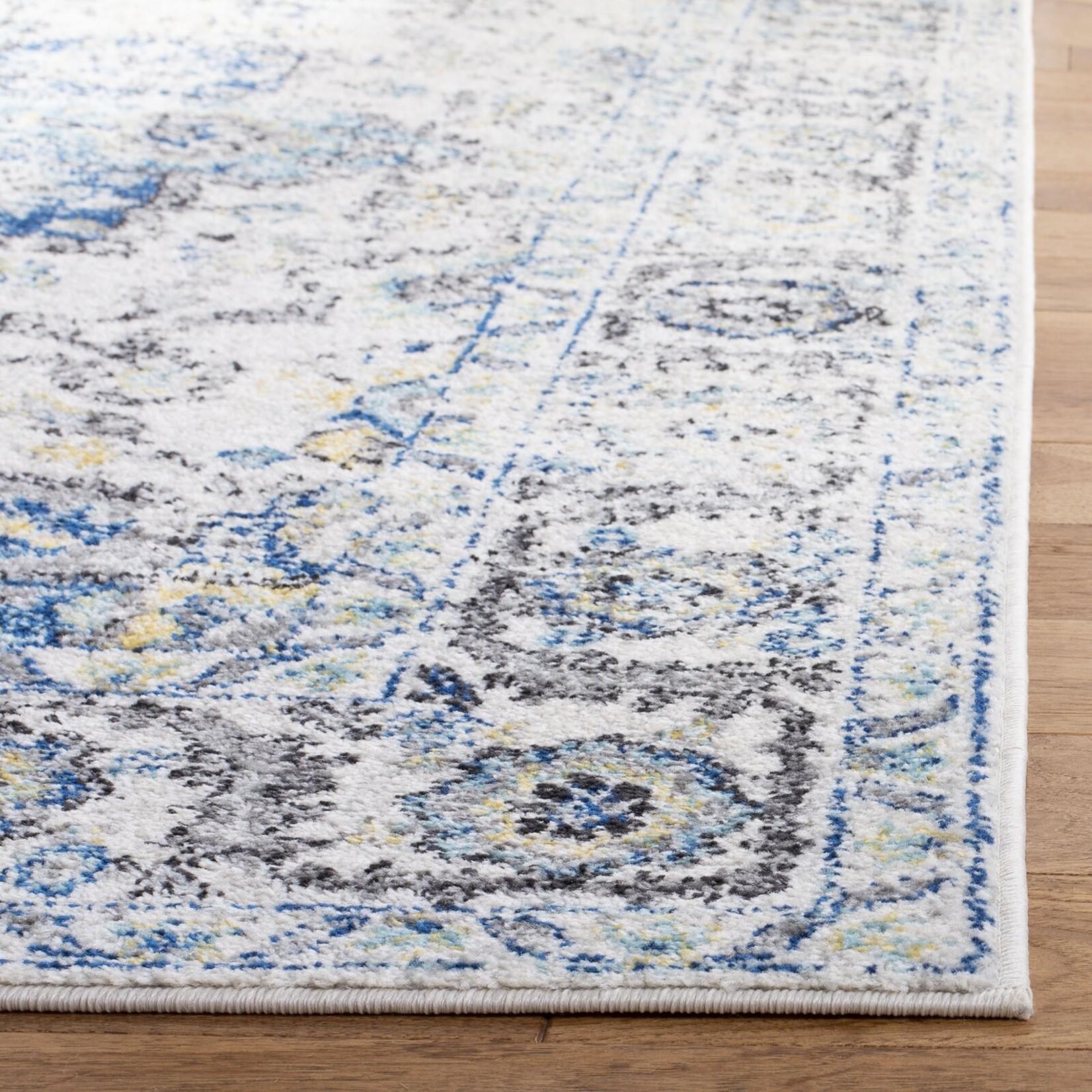 "*2'3"" x 4' - Katie Oriental Turquoise/Ivory Area Rug"