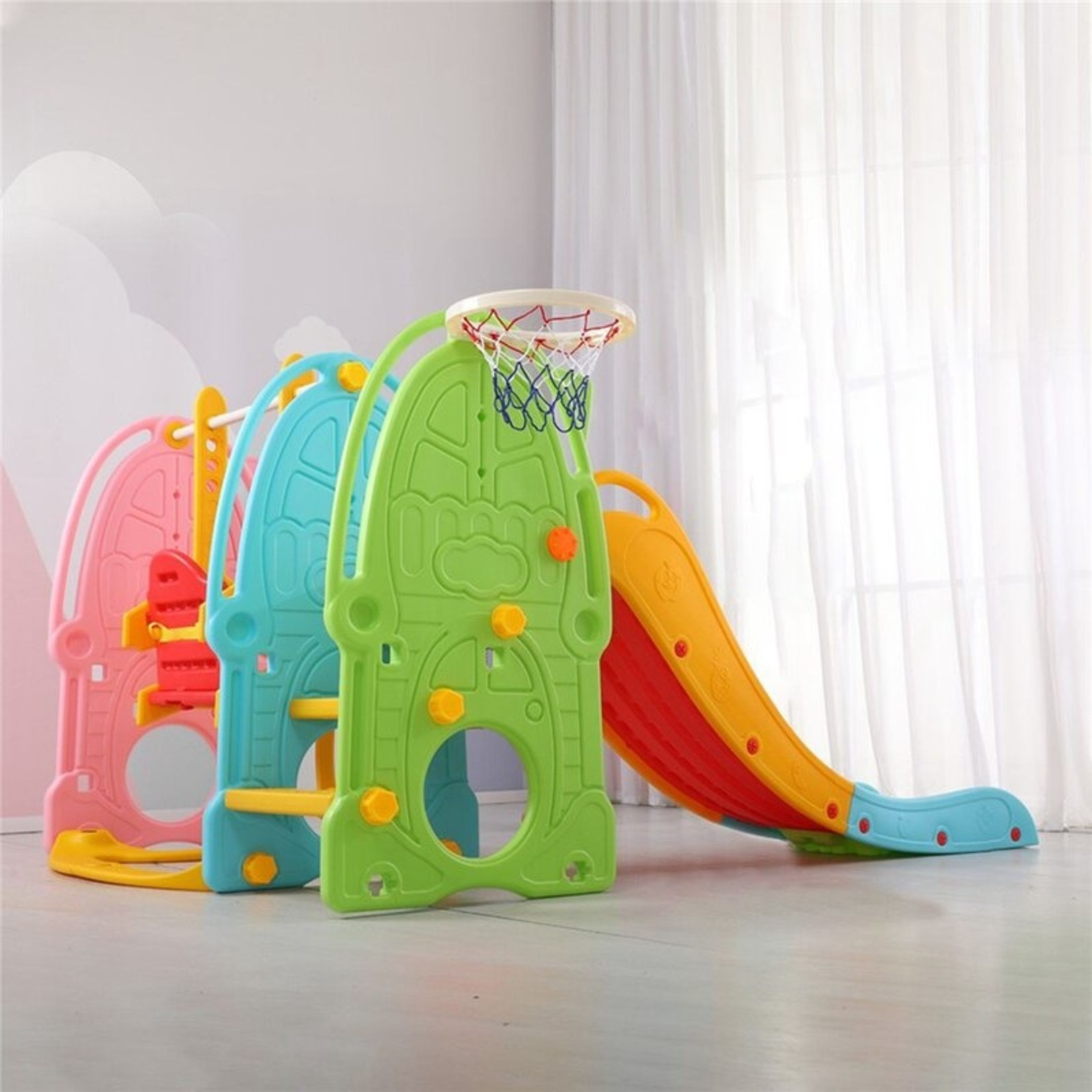 *Toddler Mountaineering Swing Set And Slides