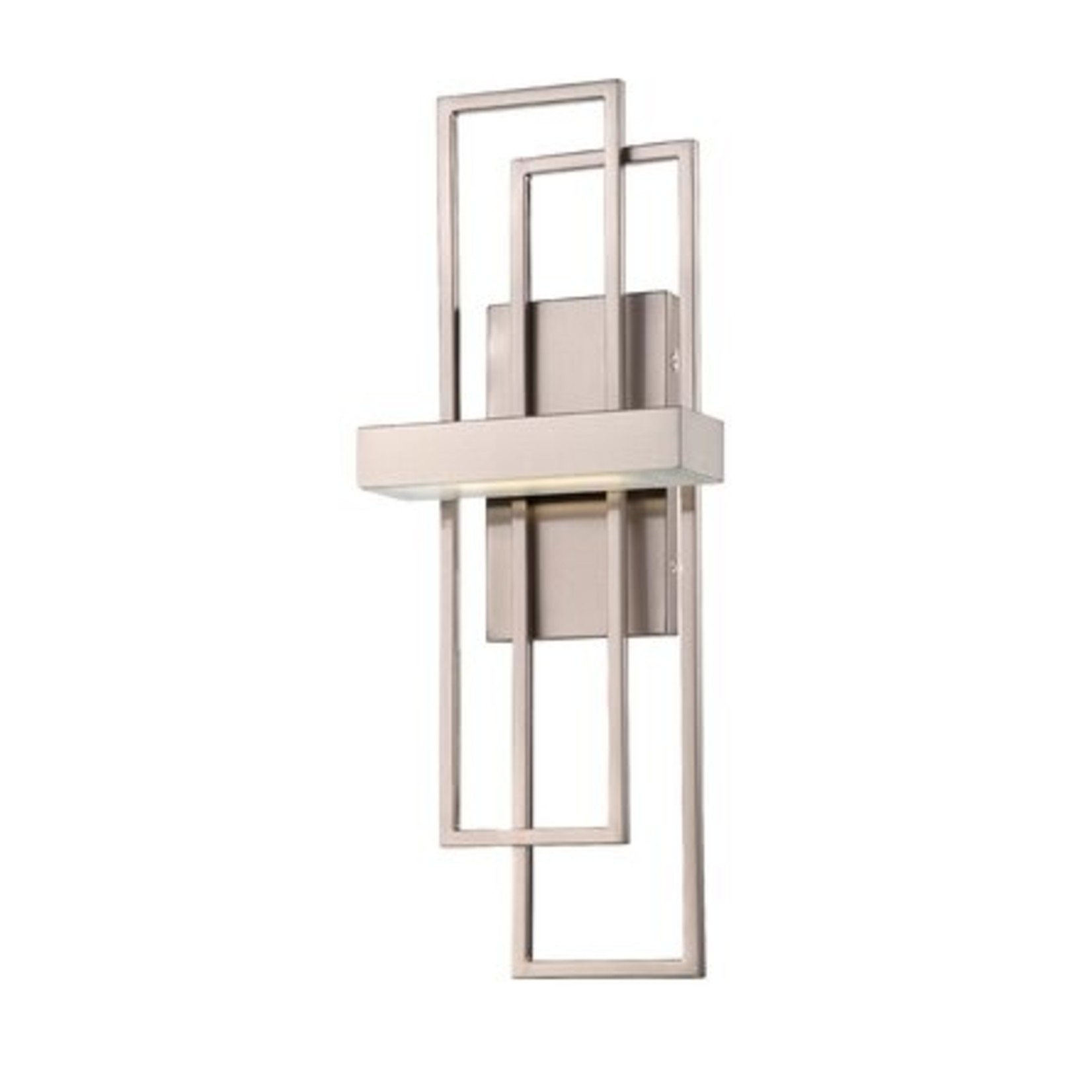 *Fenn 1 - Light LED Dimmable Armed Sconce - Brushed Nickel