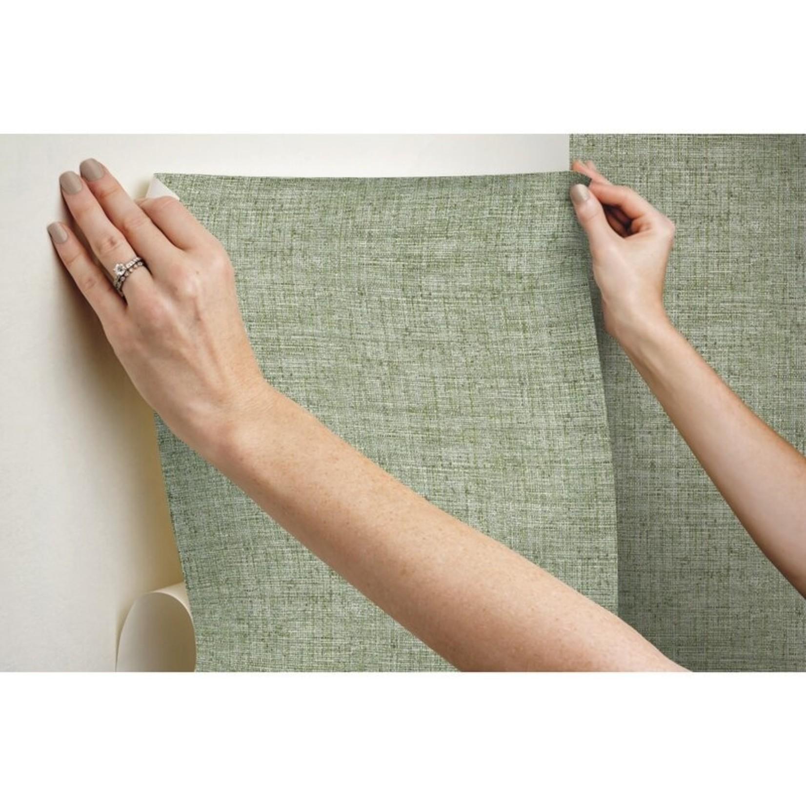 """*Helsinki Papyrus Weave 20' L x 27"""" W Peel and Stick Wallpaper Roll - 45 Sq.Ft."""
