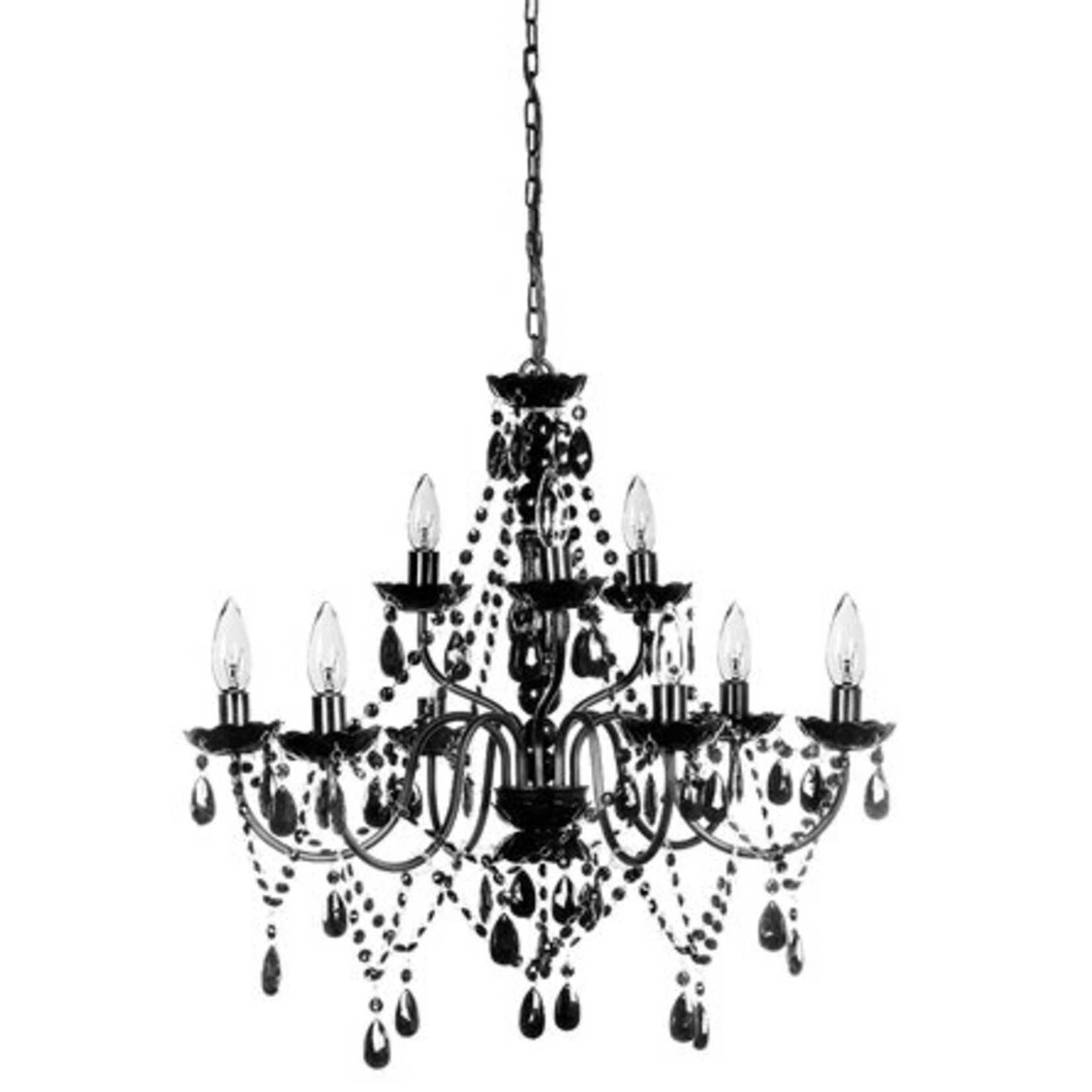 *Hilburn 9 - Light Candle Style Traditional Pendant