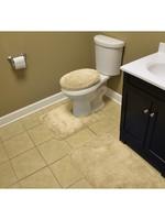 *Woodacre Nylon Non-Slip Solid 3 Piece Bathroom Set - Linen