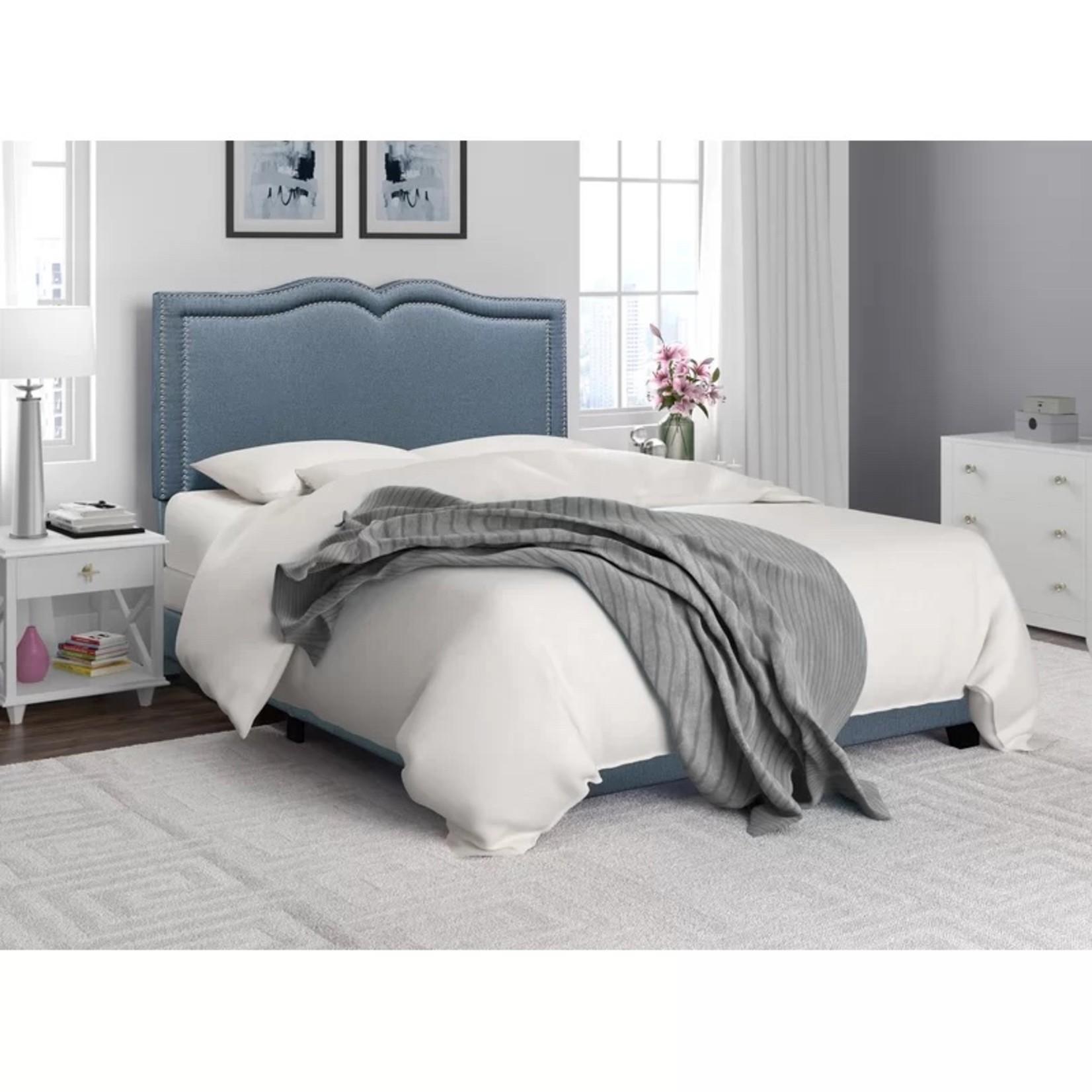 *Full - Keenum Upholstered Standard Bed - Light Blue