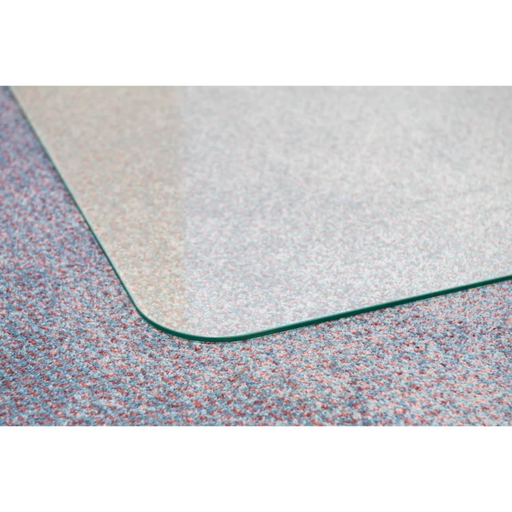 """*Glass Straight Rectangular Chair Mat - 36"""" x 46"""""""