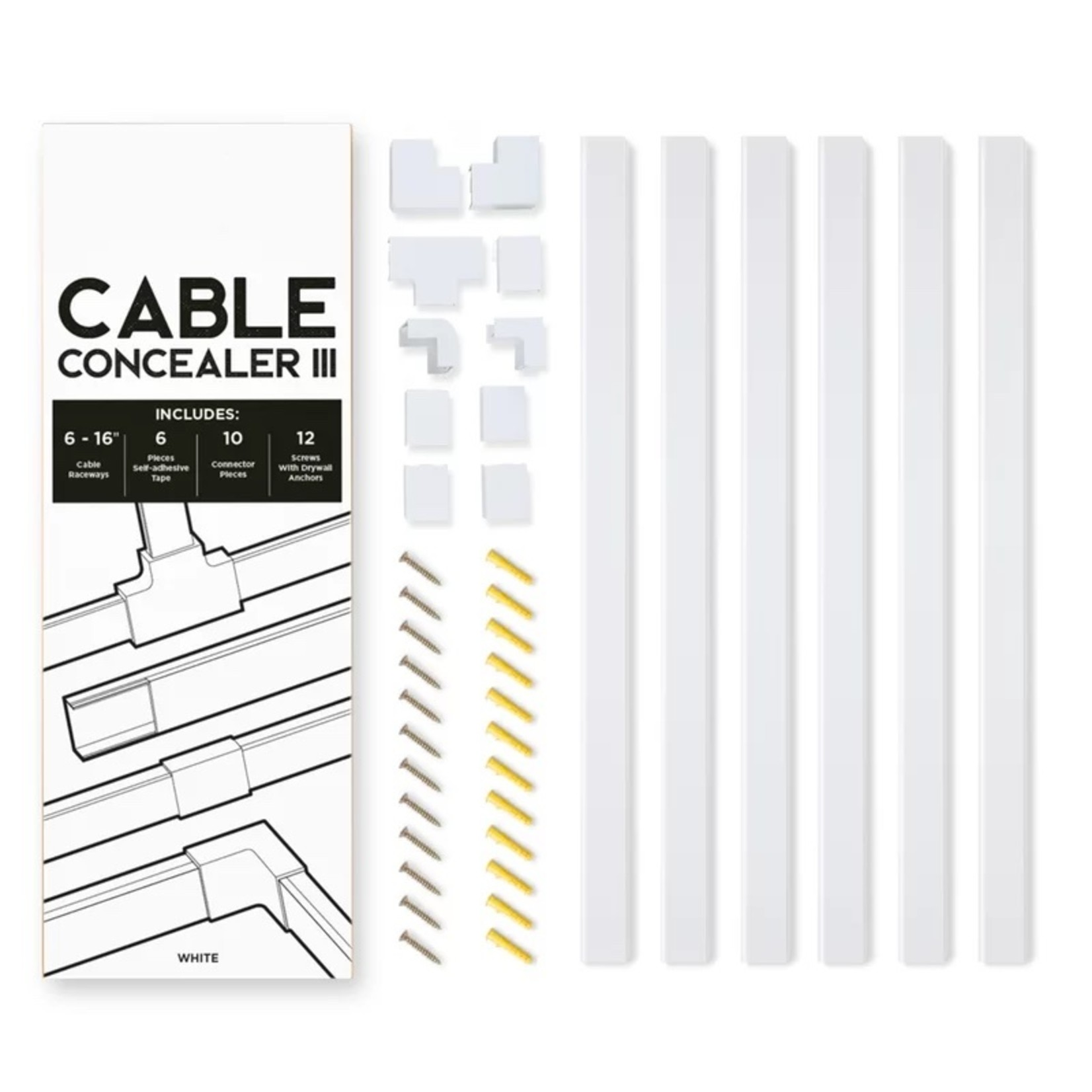 *Cable Concealer III On-Wall Cord Cover
