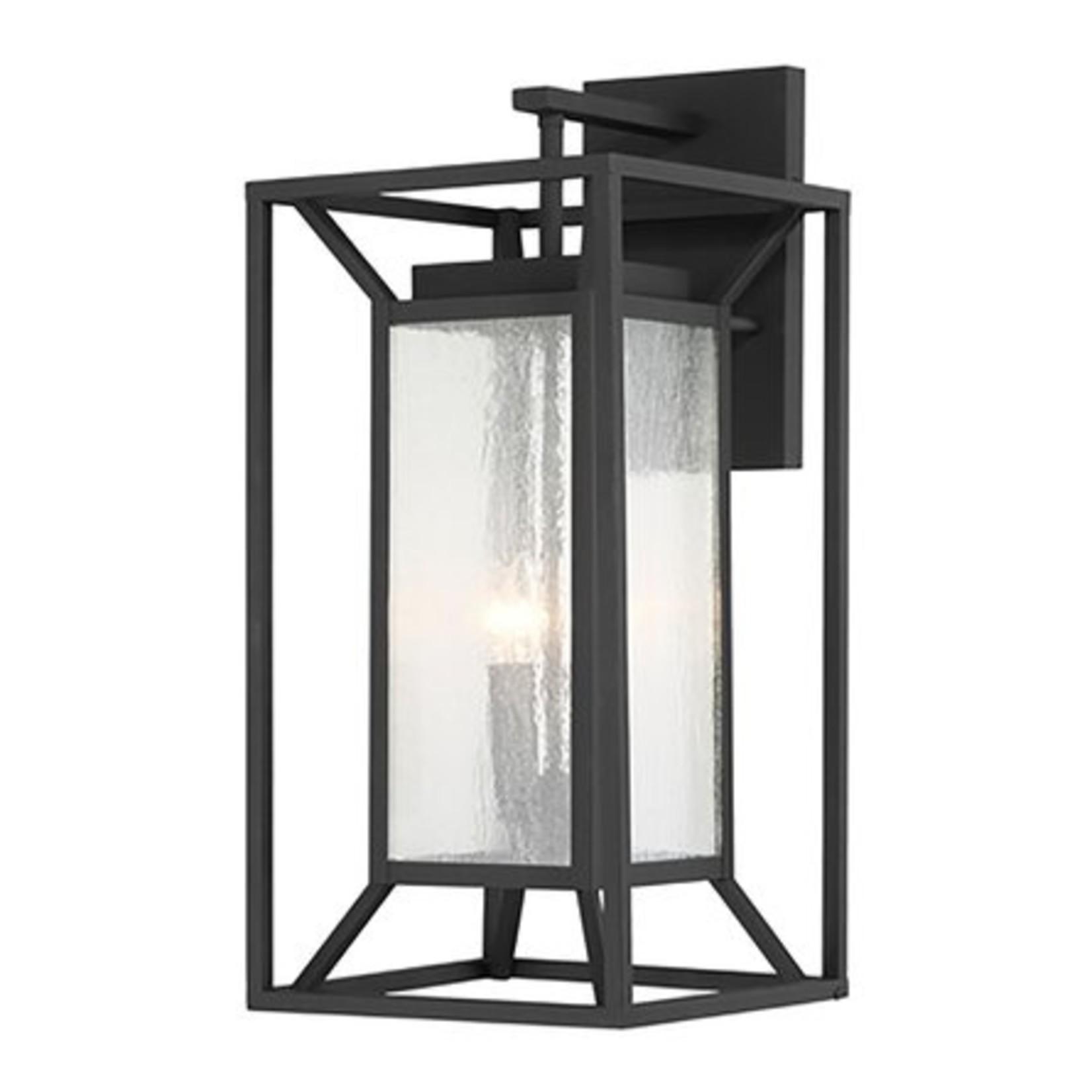 *Hutzler Black 1 - Bulb Outdoor Wall Lantern