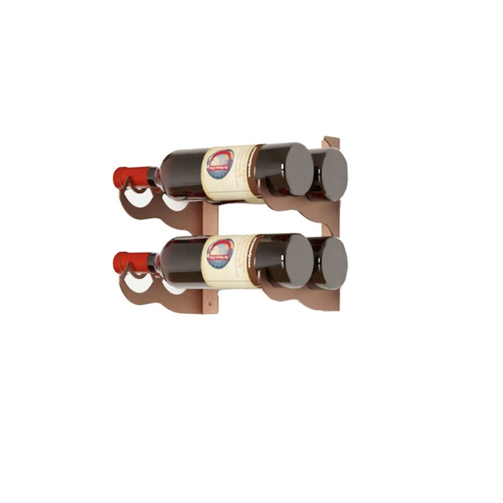 *Irizarry 2 Bottle Wall Mounted Wine Bottle Rack in Corten