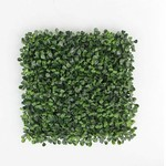 "*20"" x 20 "" Artificial Boxwood Hedge Greenery Panels Turf - Set Of 12 - Dark Green"