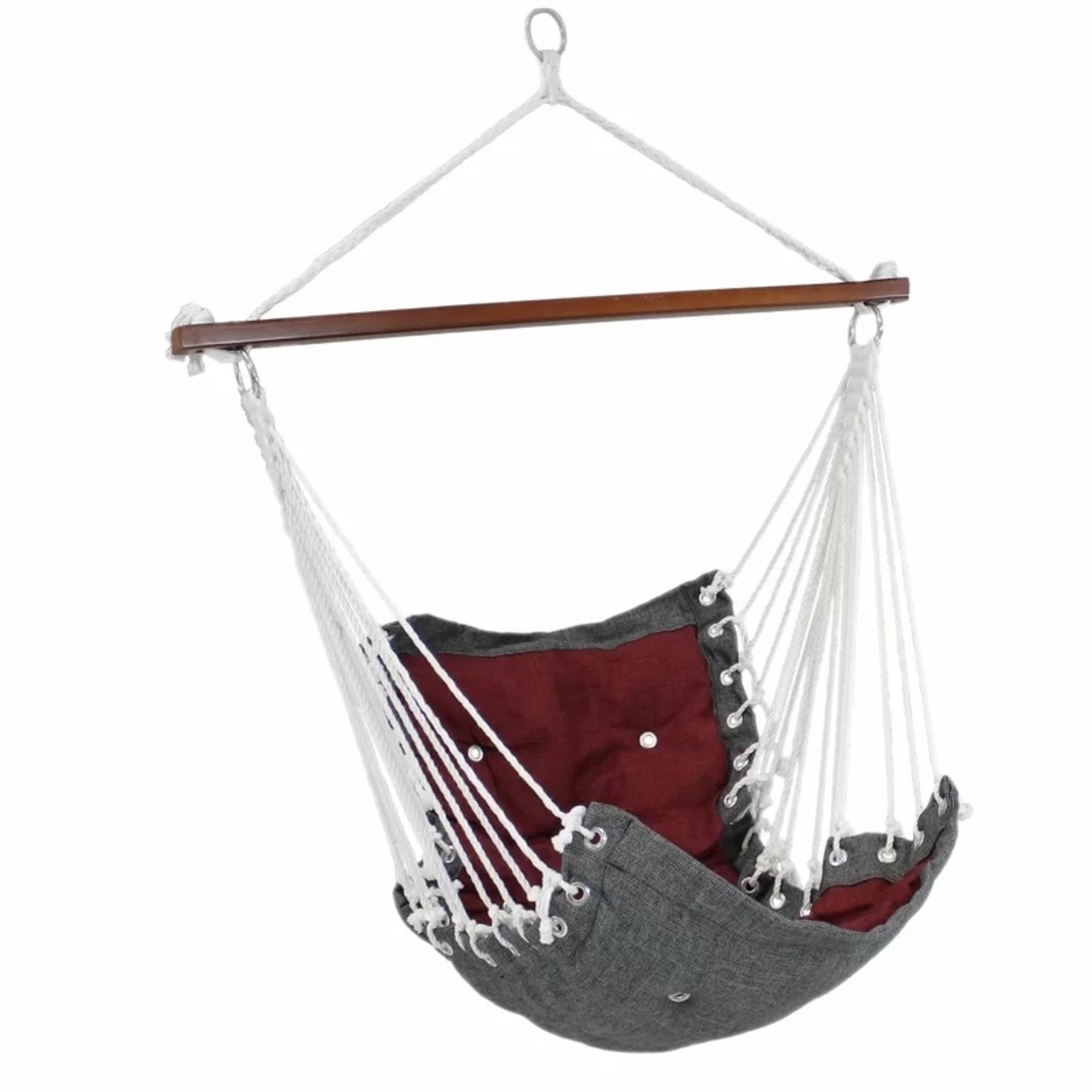 *Cade Tufted Swing Chair - Red/Grey