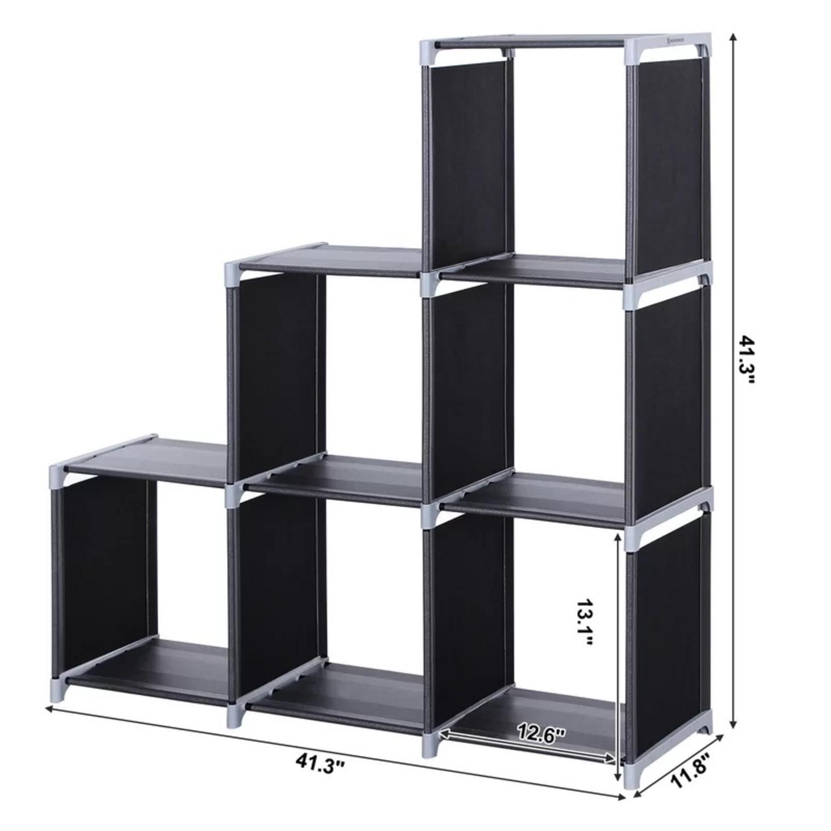 *Ishaan Step Bookcase - Black