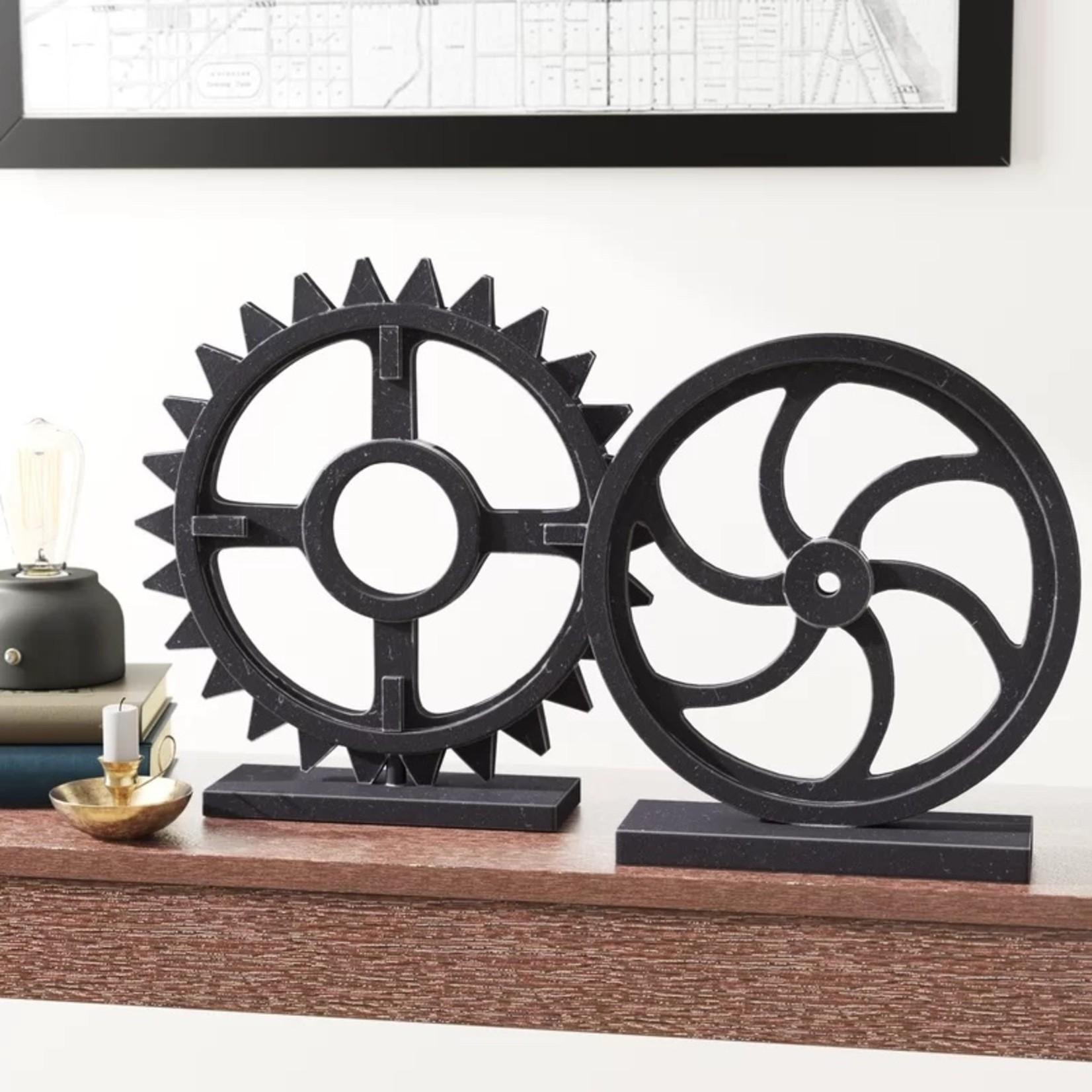 *2 Piece Sculpture Set - Set of 2 - Black