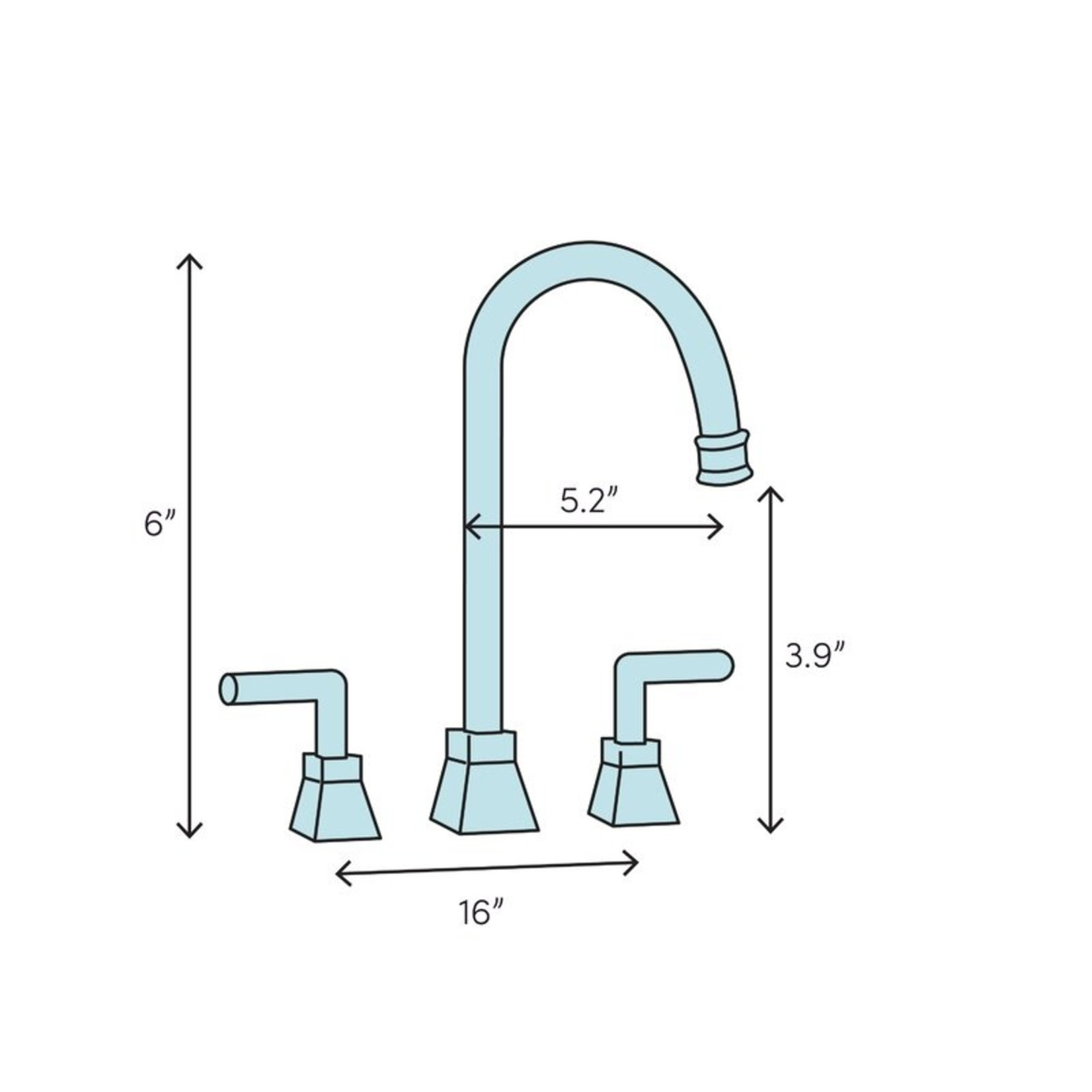 *Victorian Widespread Bathroom Faucet with Drain Assembly
