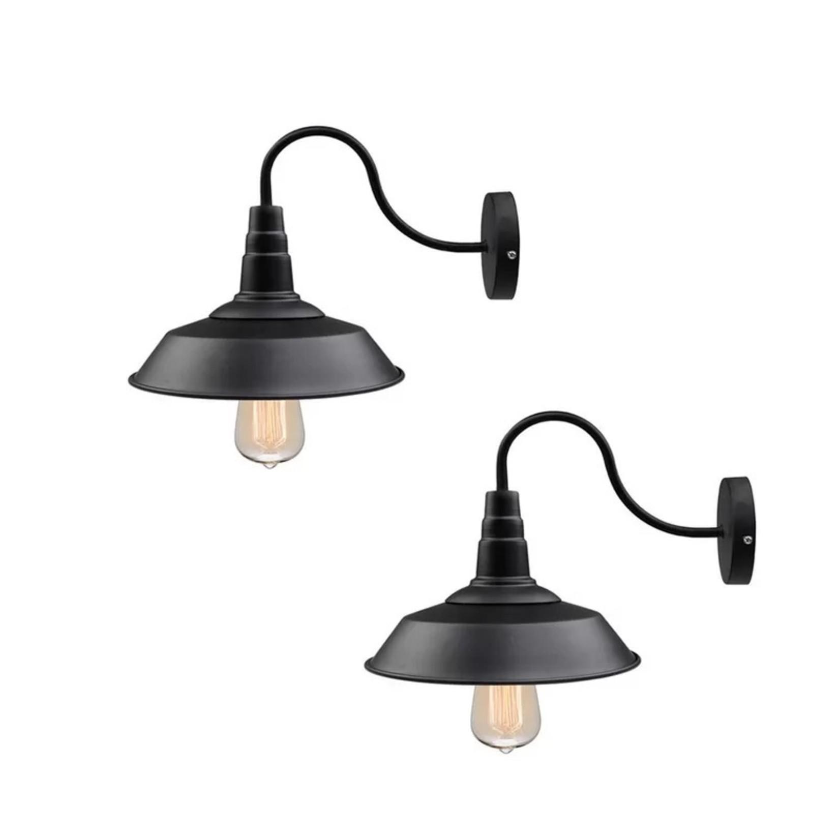 *Blountsville 2 - Light Black Barn Light - Set of 2