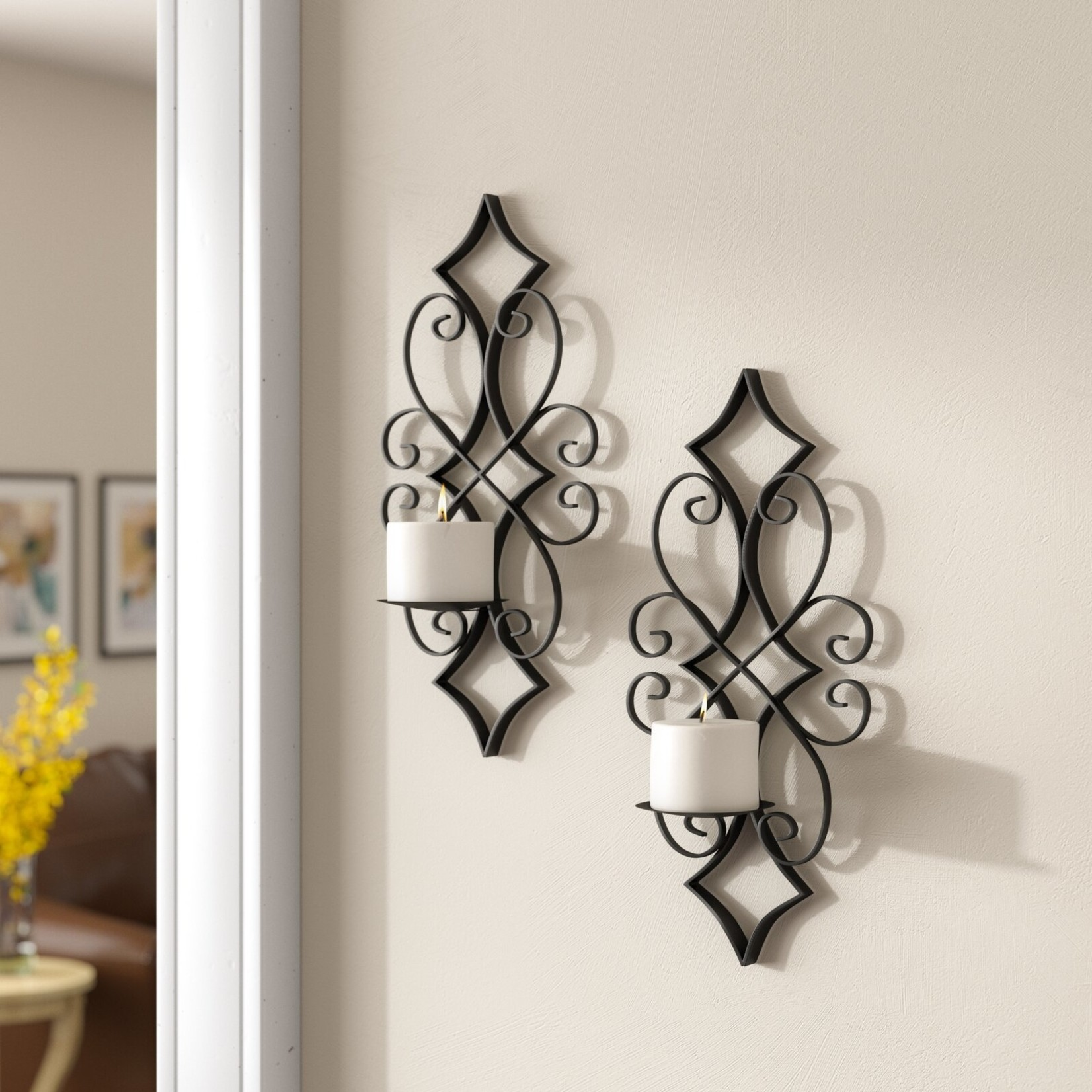 *Metal Wall Sconce - Set of 2