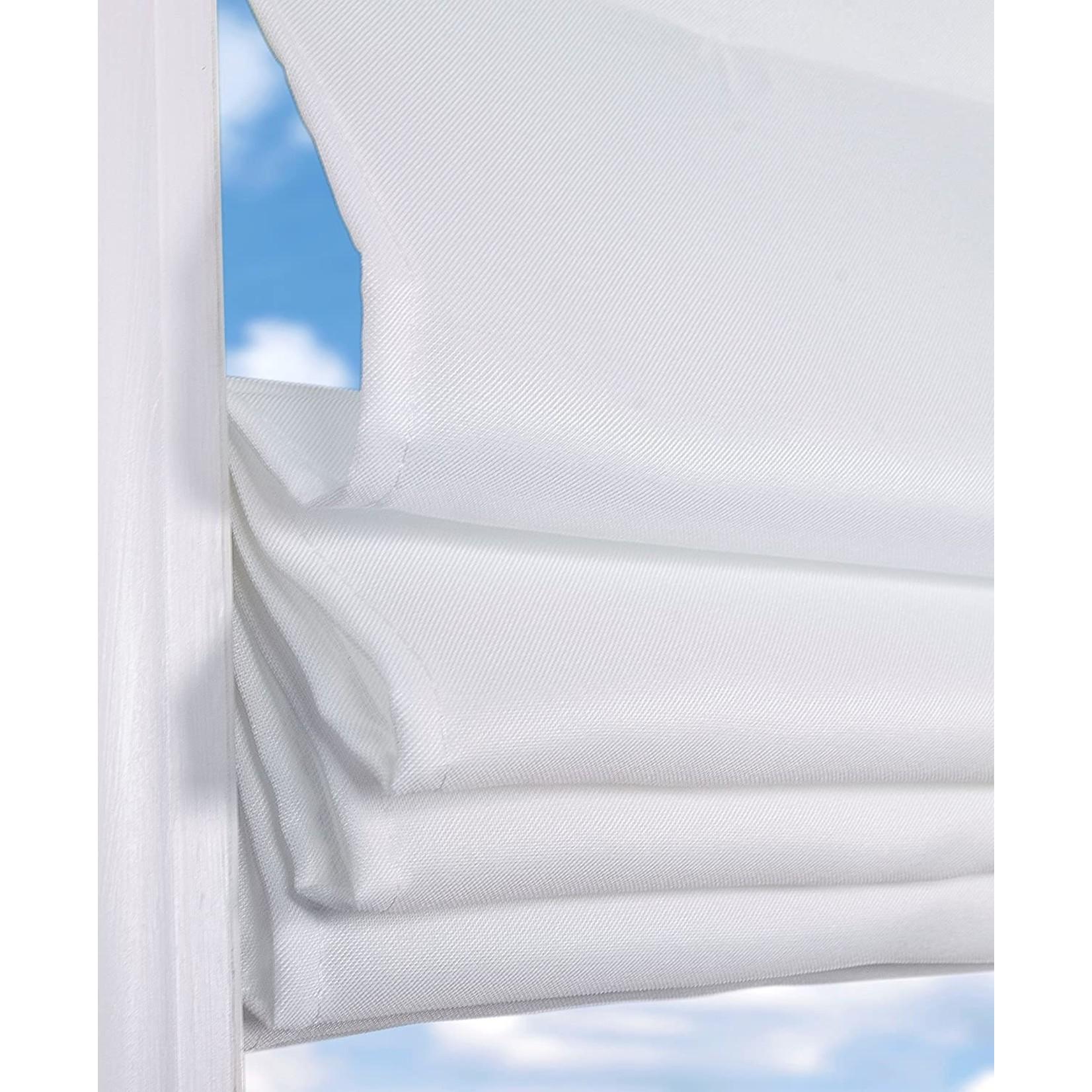 "*Cordless Semi-Sheer Roman Shade - 35"" x 60"" - Cloud White - Final Sale"