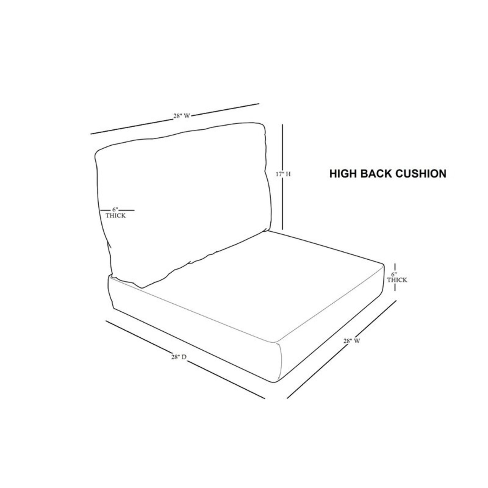 *2 Piece Outdoor Lounge Chair Seat/Back Cushion Set - White