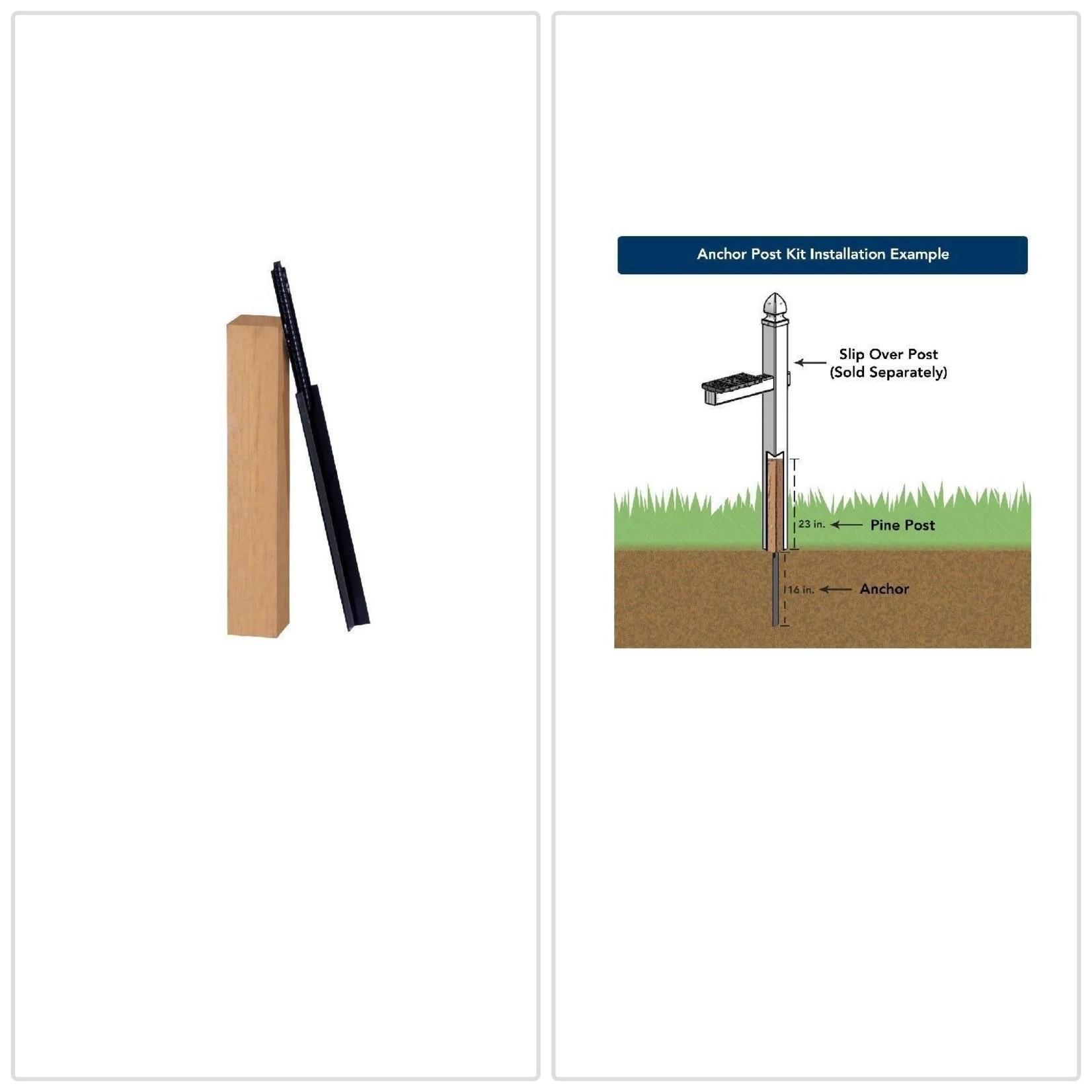 *Gibraltar Cedar/Steel Mailbox Post Anchor Kit