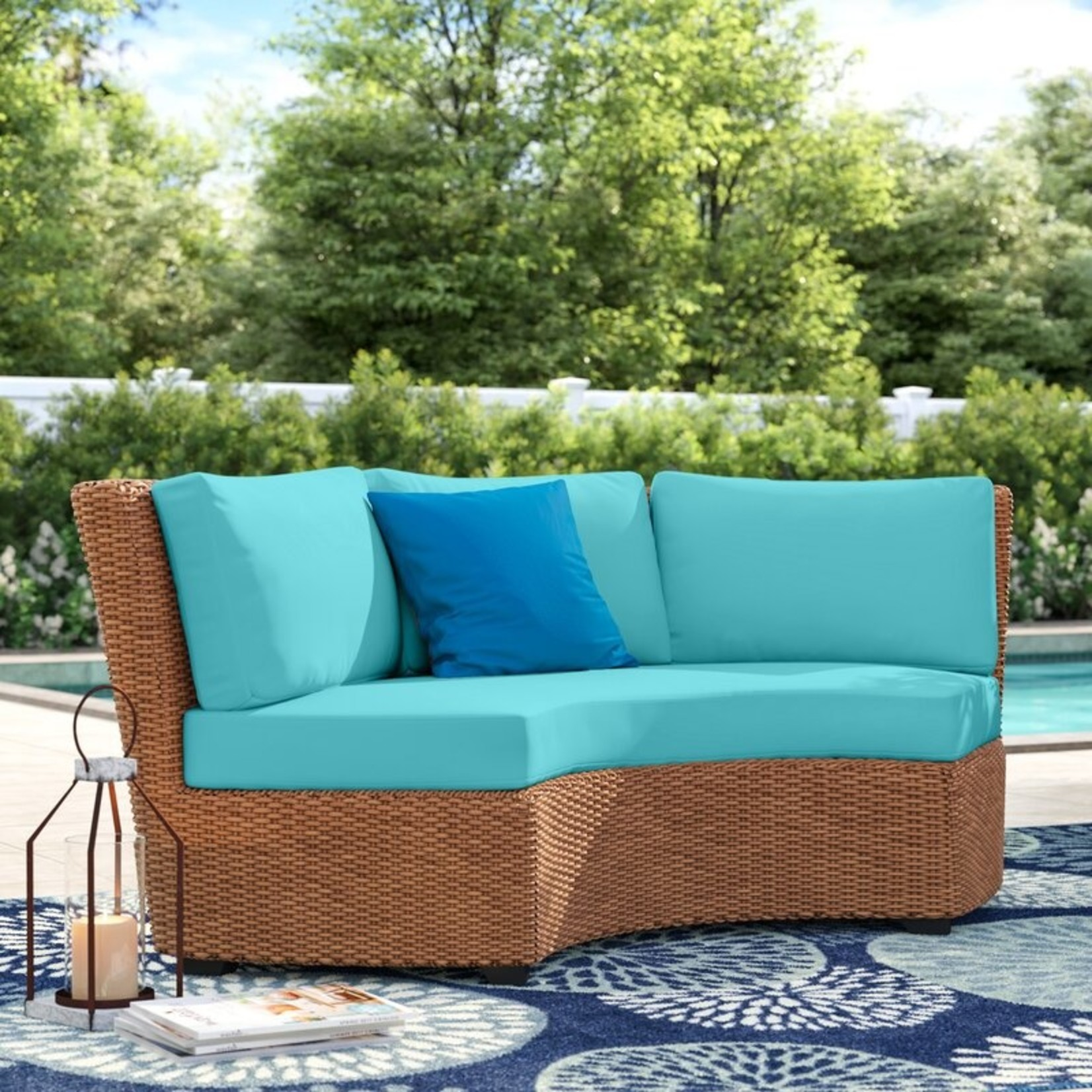 *4 Piece Merlyn Indoor/Outdoor Cushion Cover - Aruba - Covers Only - Final Sale
